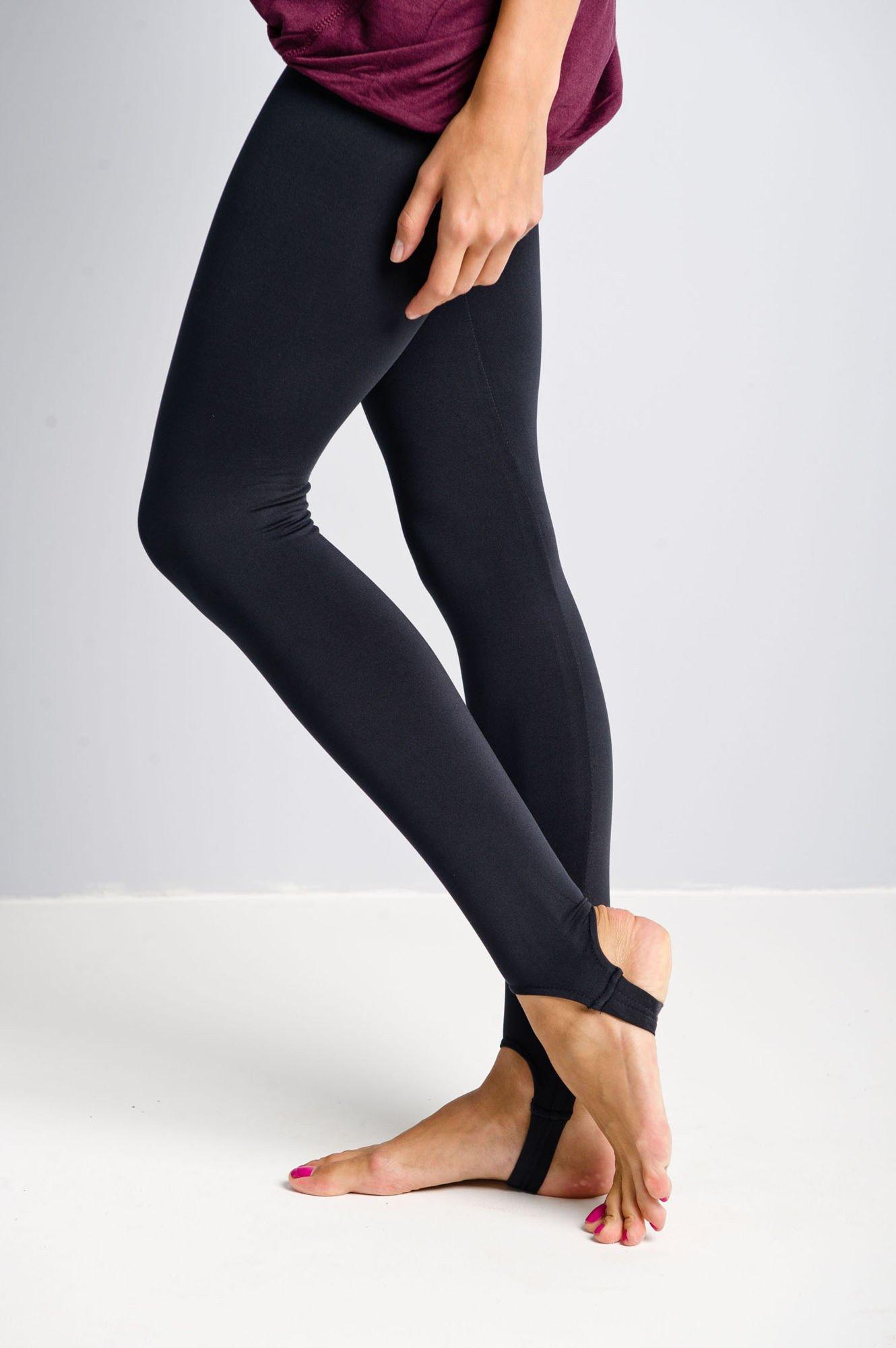 Granatowe legginsy zakładane na stopę                                  zdj.                                  2