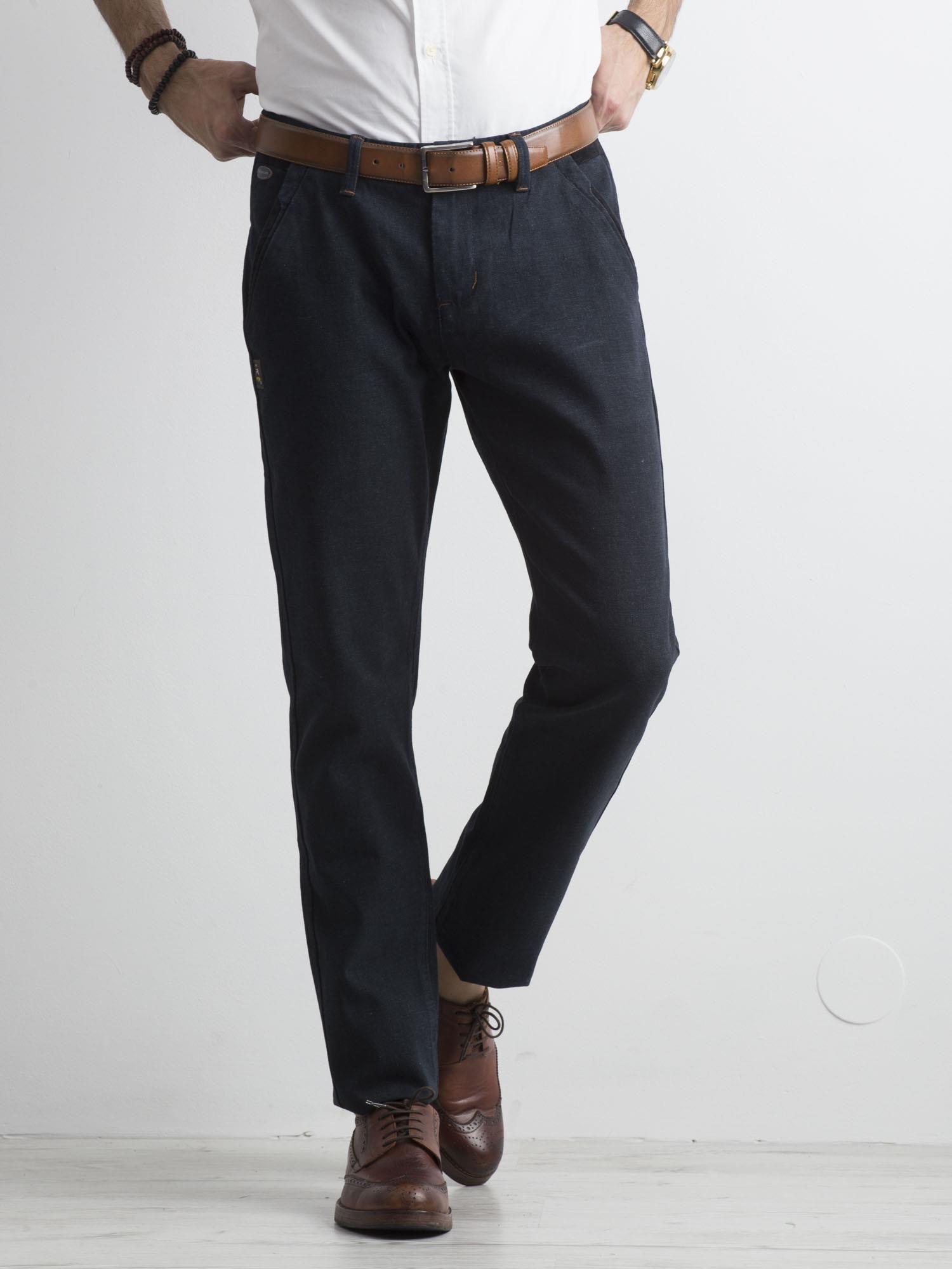 7e0084da Granatowe męskie spodnie chinosy