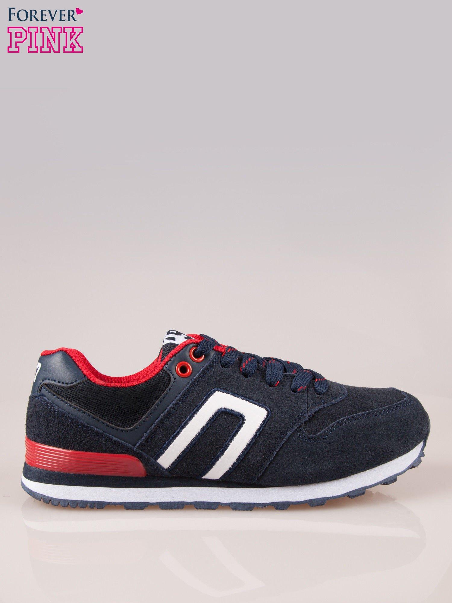 Granatowo-czerwone buty sportowe damskie                                  zdj.                                  1