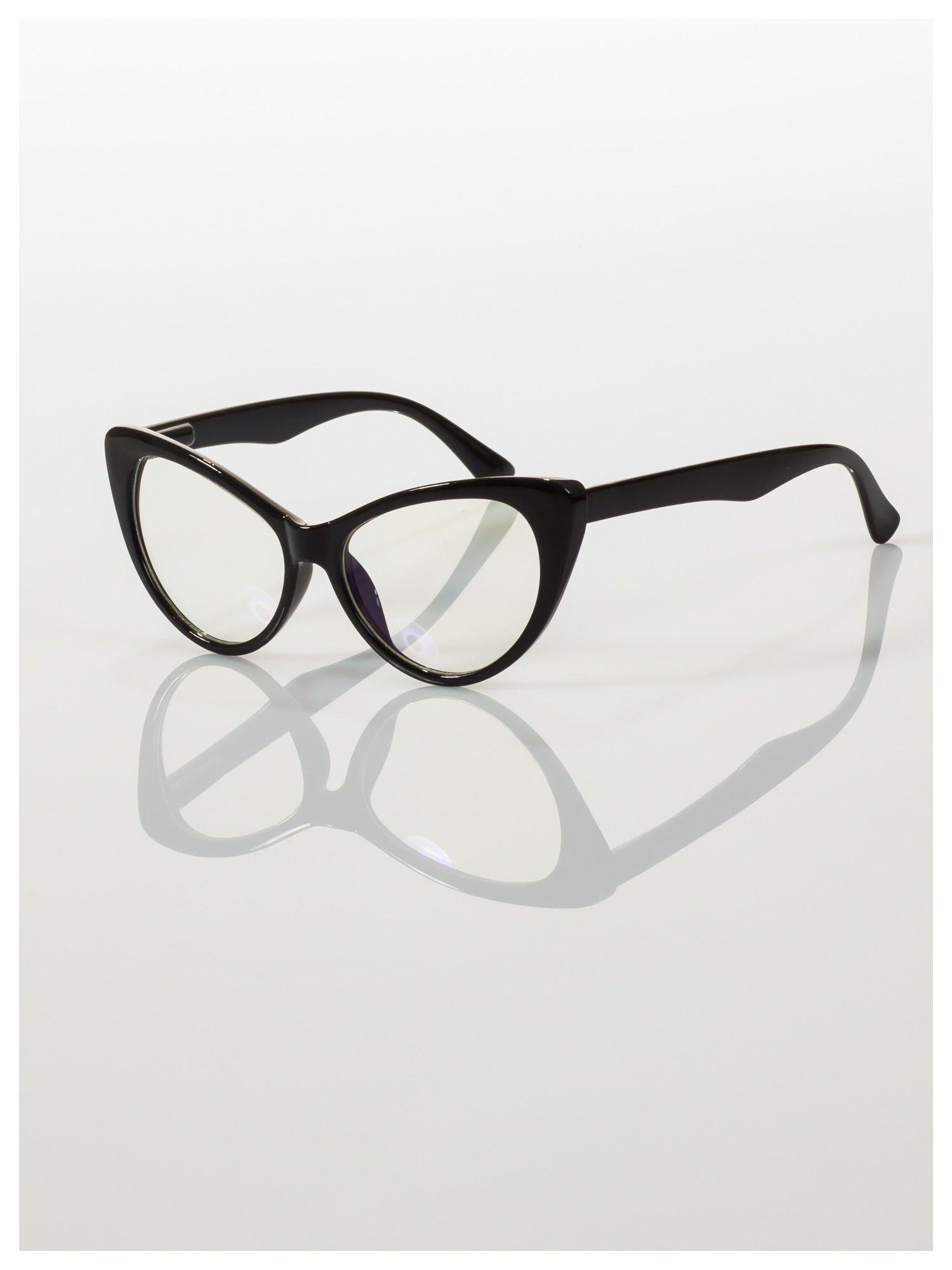 HIT 2016 Modne okulary zerówki typu KOCIE OCZY w stylu Marlin Monroe- soczewki ANTYREFLEKS+system FLEX na zausznikach                                  zdj.                                  4