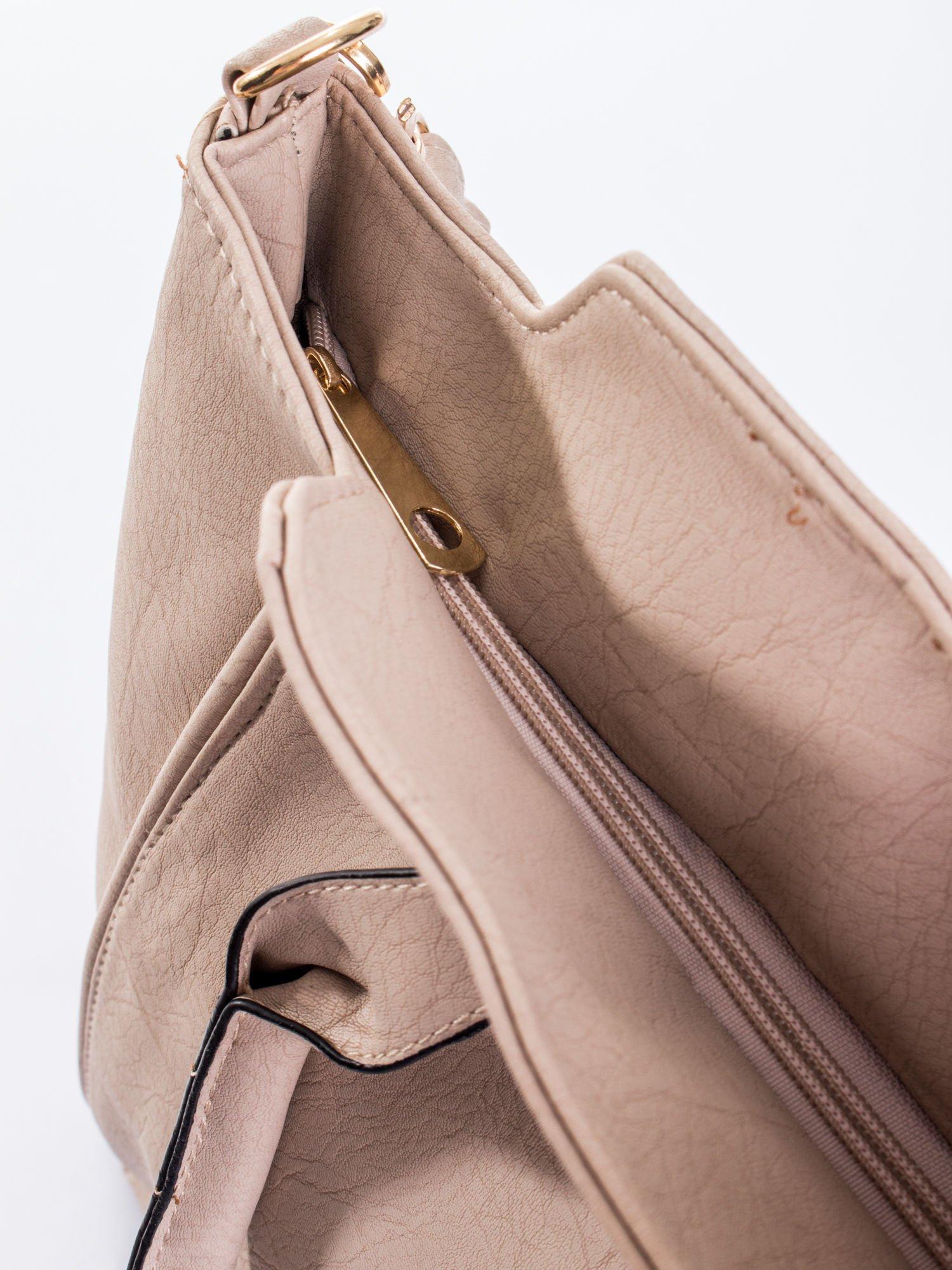 Jasnobeżowa torba shopper bag                                  zdj.                                  9