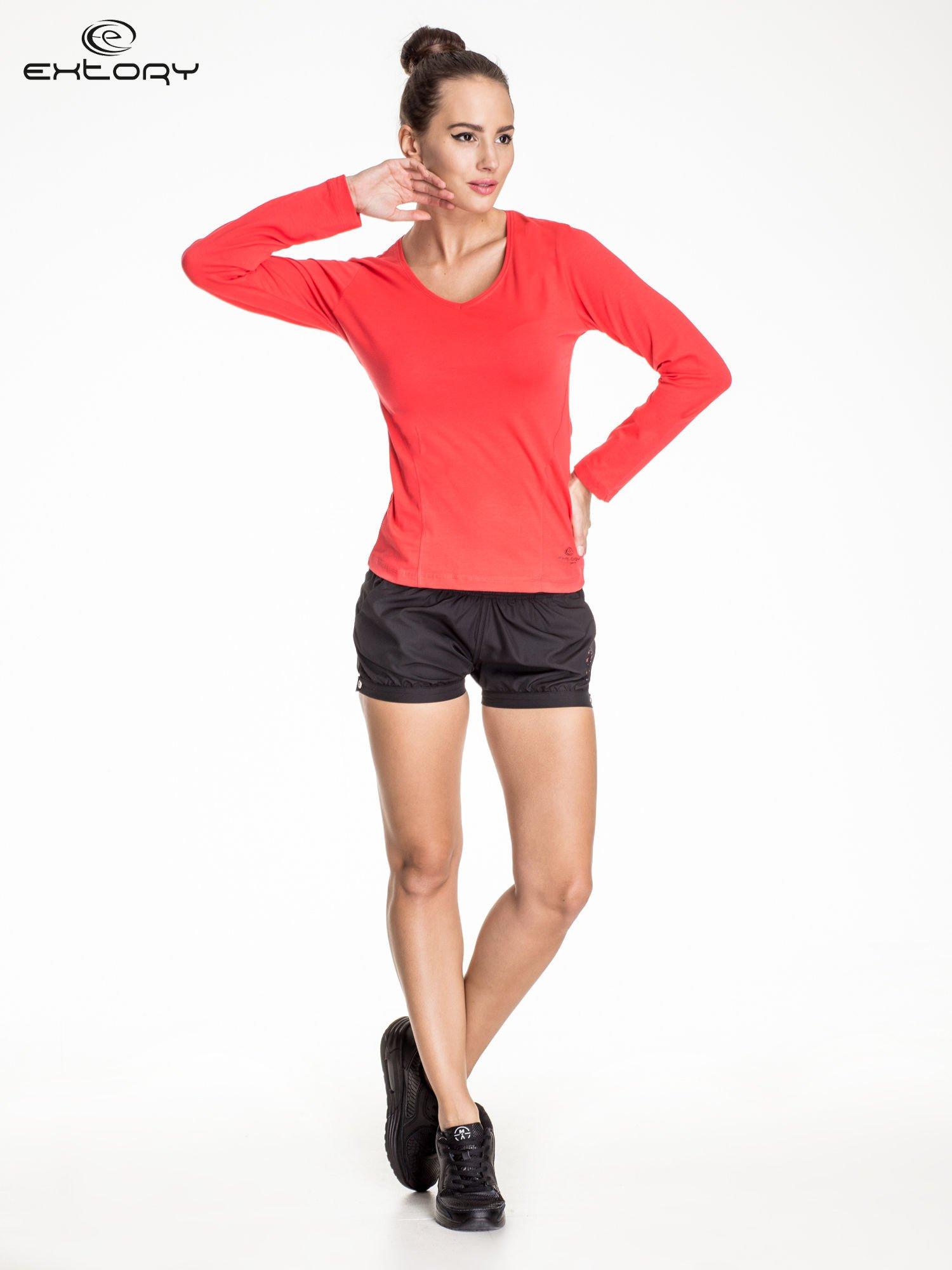 Jasnoczerwona bluzka sportowa basic PLUS SIZE                                  zdj.                                  2