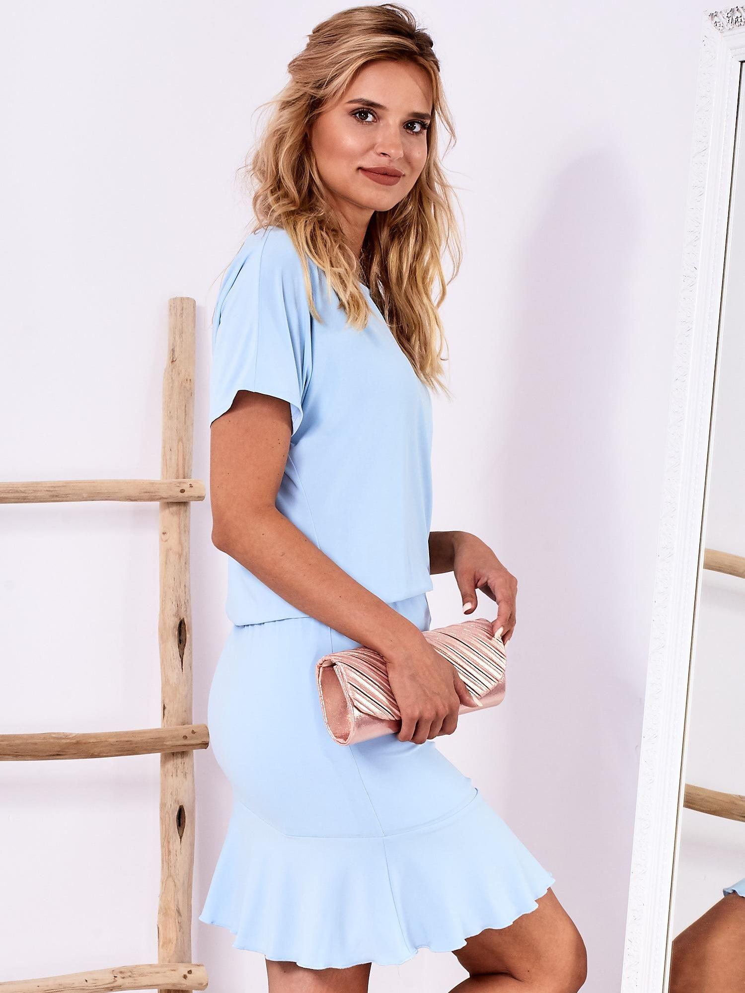 9a7330ef6e Różowa sukienka z drapowaniem i wycięciem łezką z tyłu - Sukienka  koktajlowa - sklep eButik.pl