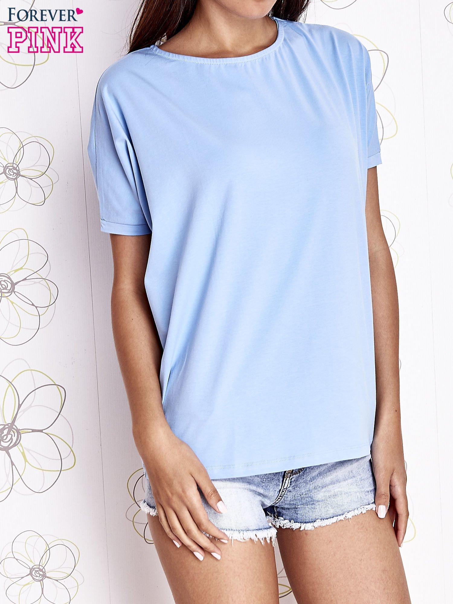 Jasnoniebieski t-shirt oversize                                  zdj.                                  1