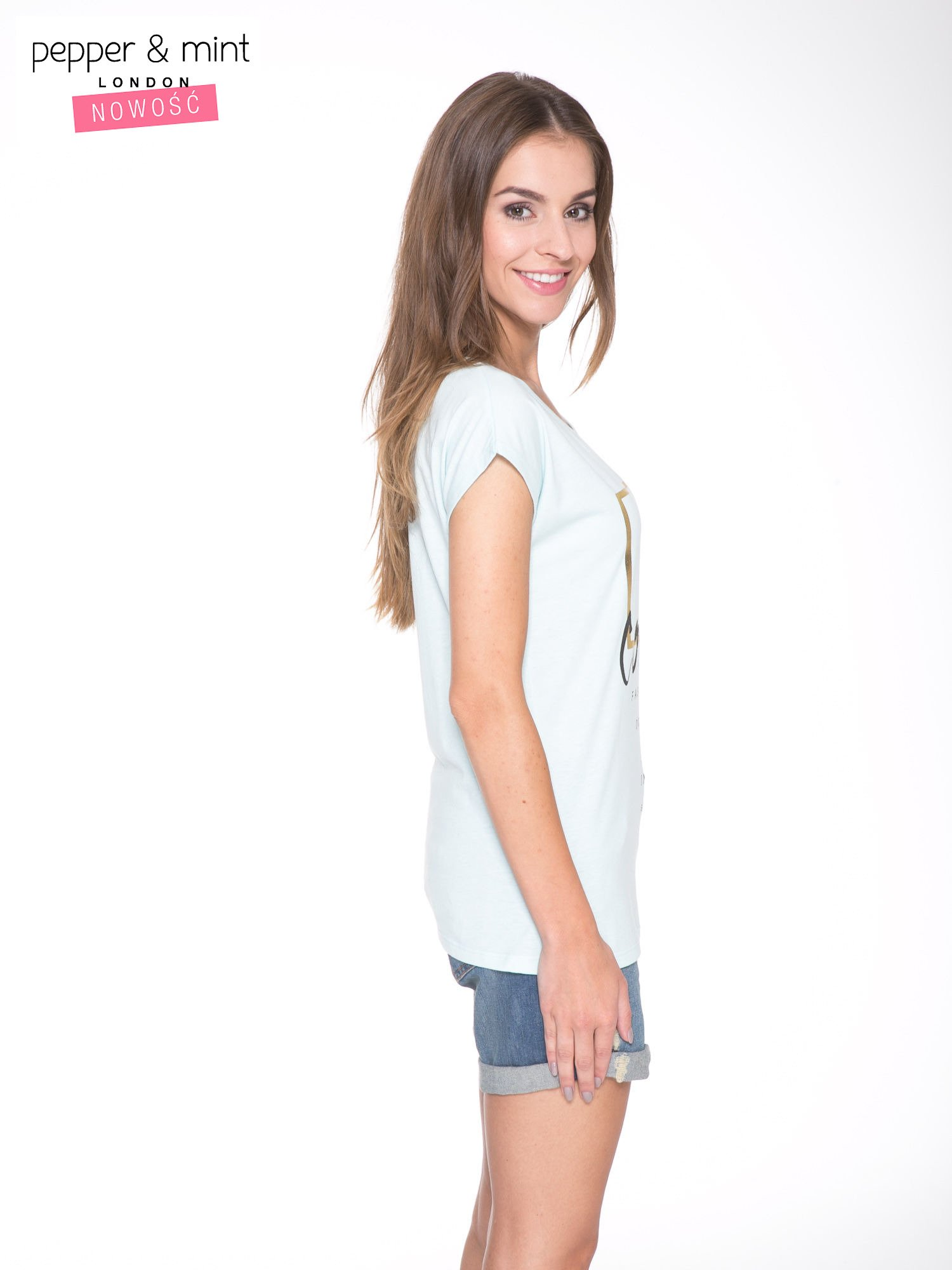 Jasnoniebieski t-shirt z nadrukiem UNTITLED COLLECTION                                  zdj.                                  3