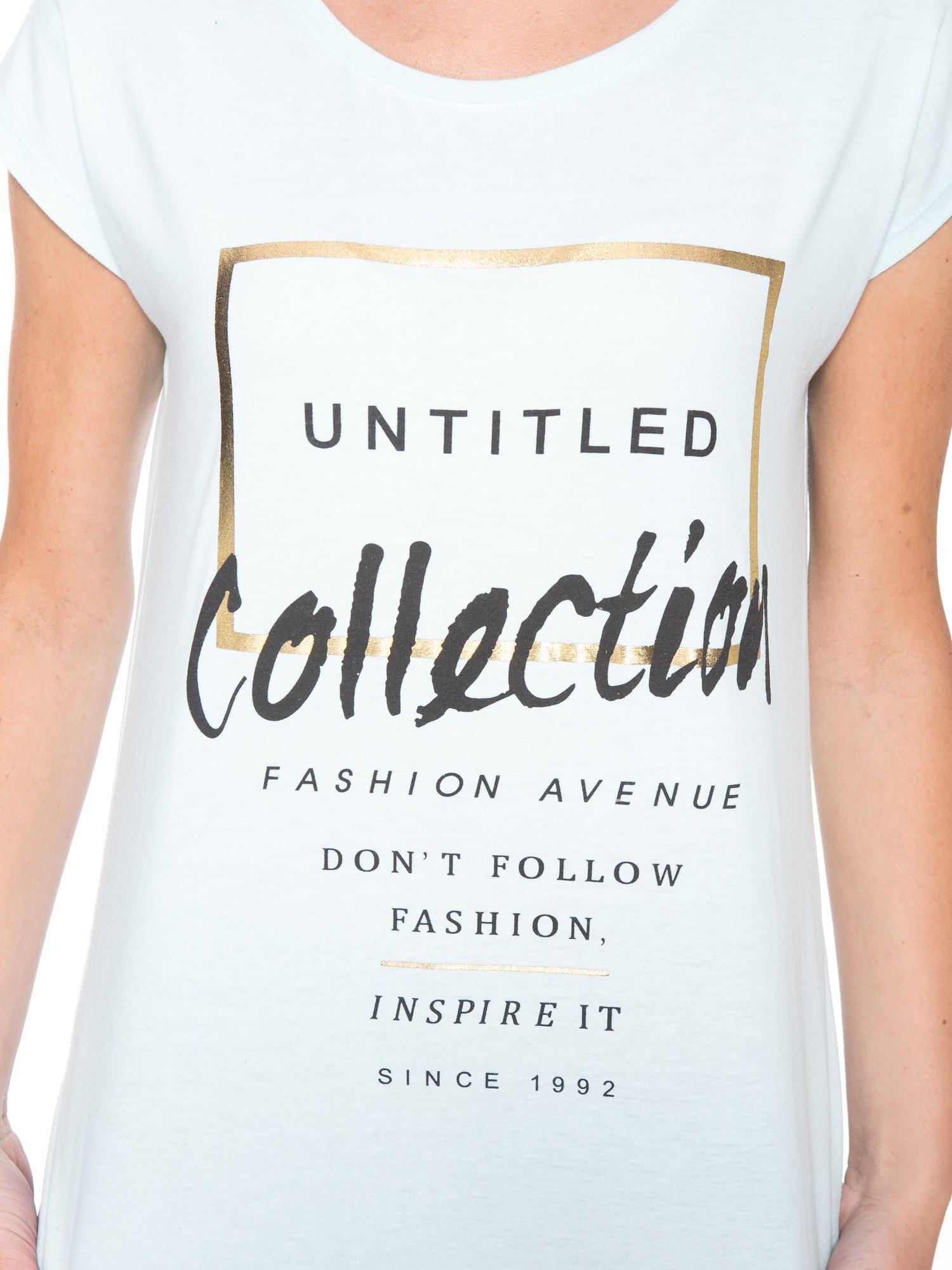 Jasnoniebieski t-shirt z nadrukiem UNTITLED COLLECTION                                  zdj.                                  6