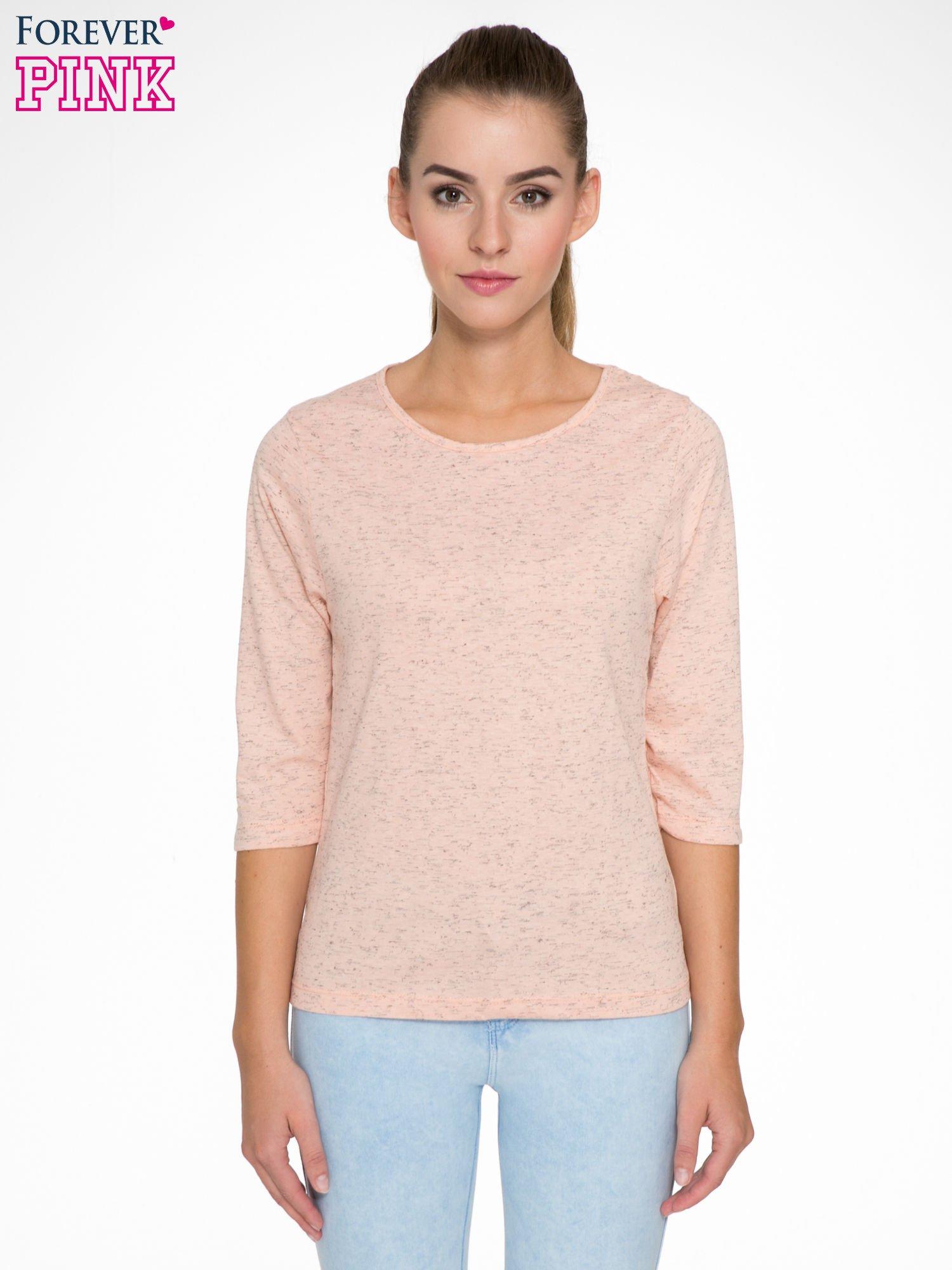Jasnoróżowa melanżowa bluzka z rękawami 3/4                                  zdj.                                  1