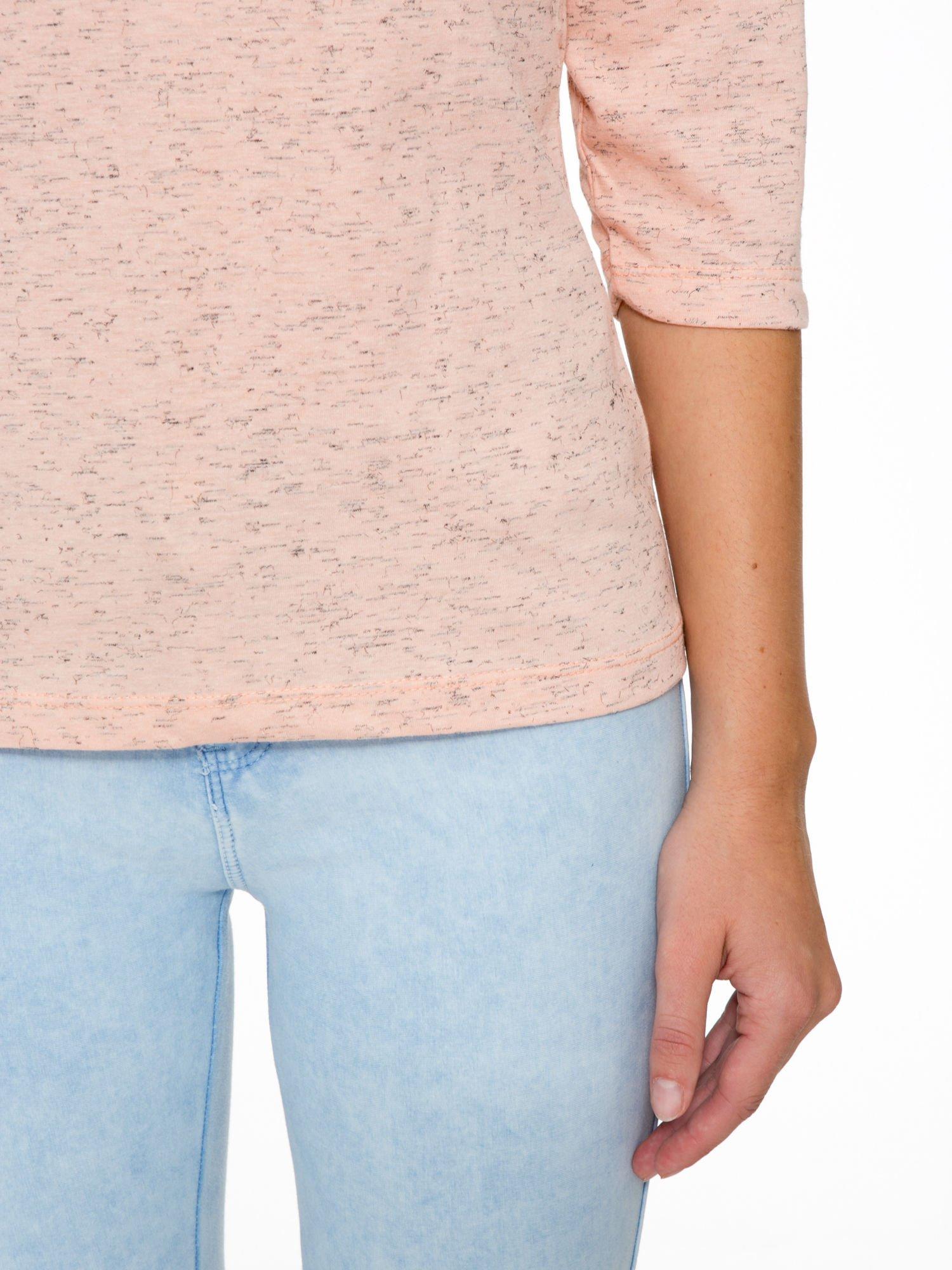 Jasnoróżowa melanżowa bluzka z rękawami 3/4                                  zdj.                                  7