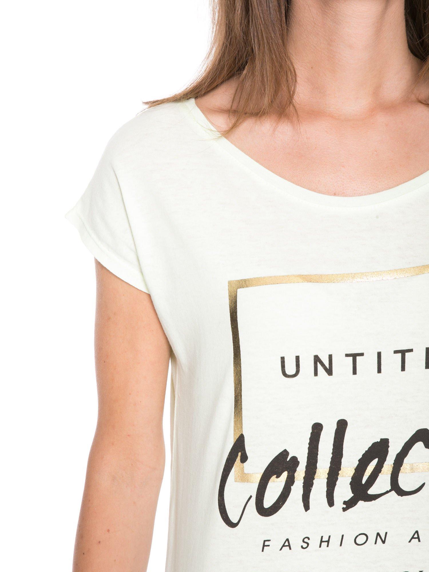 Jasnozielony t-shirt z nadrukiem UNTITLED COLLECTION                                  zdj.                                  7
