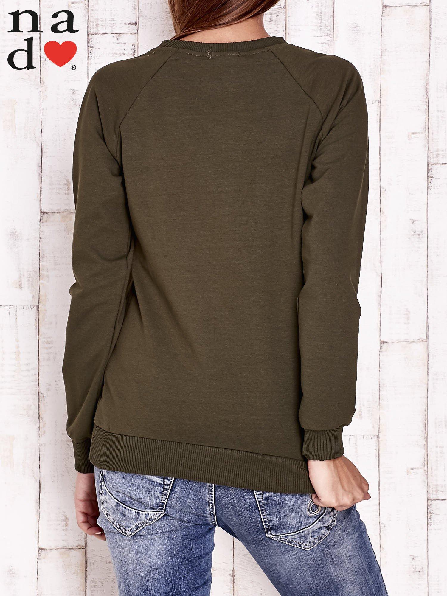 Khaki bluza z motywem sowy i łapacza snów                                  zdj.                                  4
