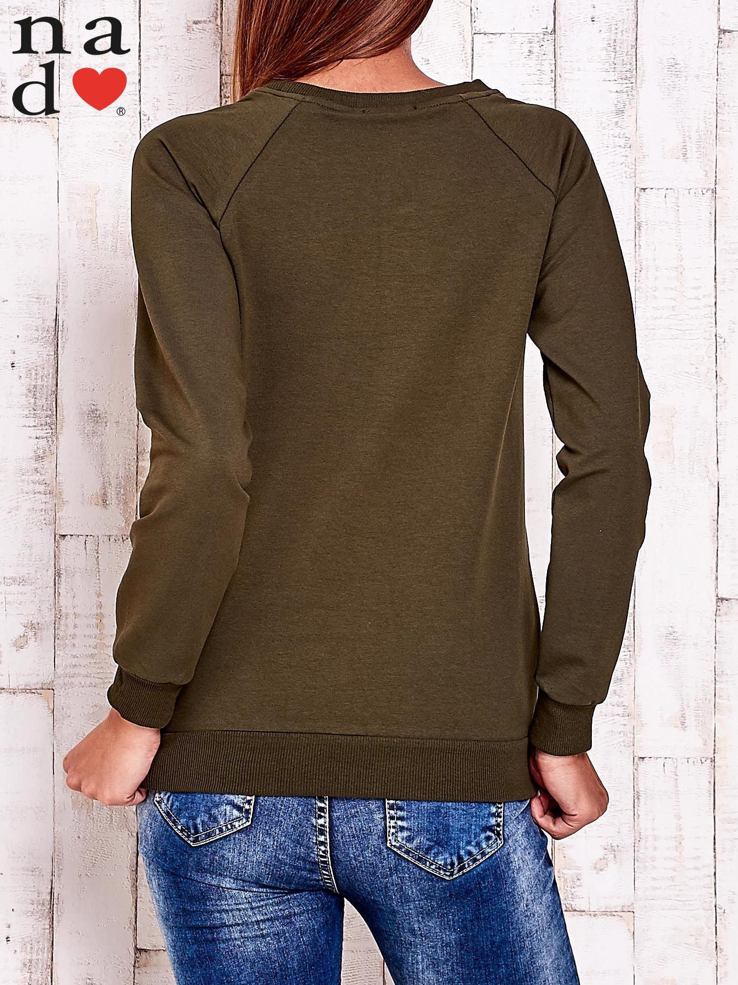 Khaki bluza z piórkiem                                  zdj.                                  5