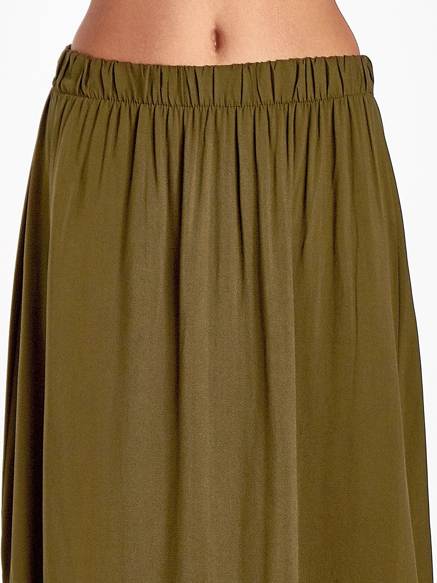 Khaki spódnica maxi z rozporkiem                                  zdj.                                  6