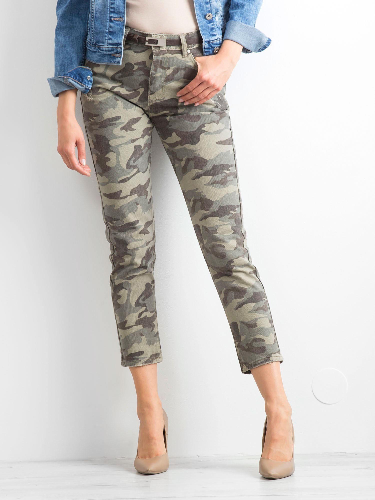 7b15f206c8a5d0 Khaki spodnie Moro - Spodnie jeansowe - sklep eButik.pl