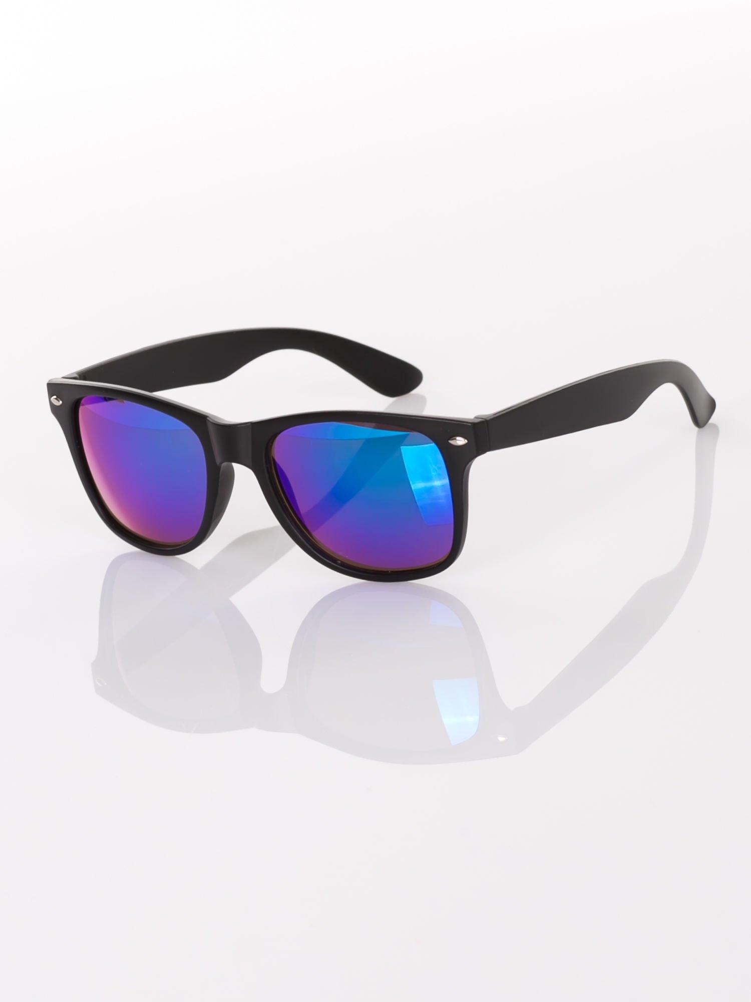 61cadecbb2ffdd Klasyczne czarne okulary przeciwsłoneczne WAYFARER lustrzanki niebiesko- zielone - Akcesoria okulary przeciwsłoneczne - sklep eButik.pl