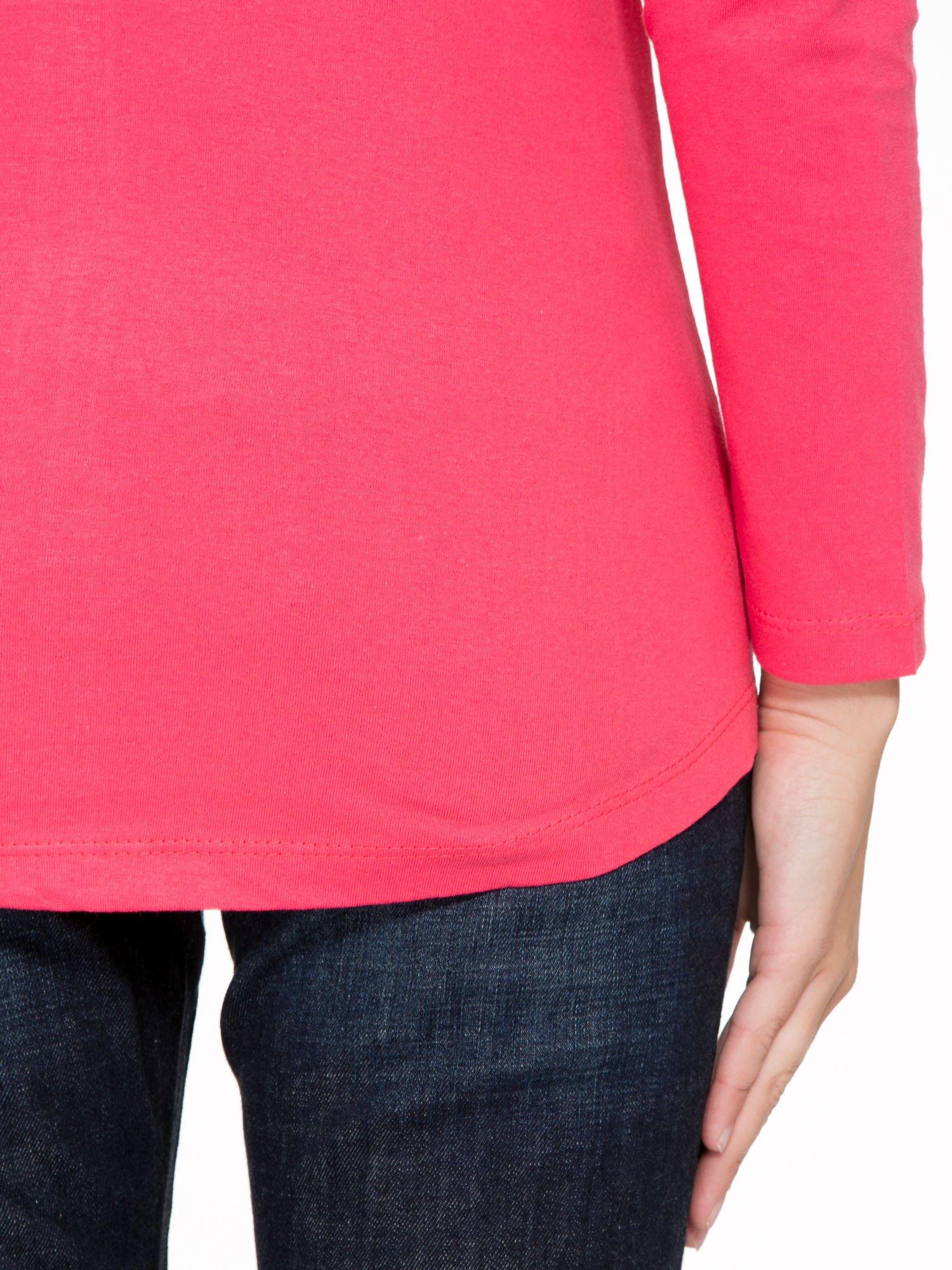 Koralowa bluzka z napisem CRAZY i nadrukiem fashionistek                                  zdj.                                  9