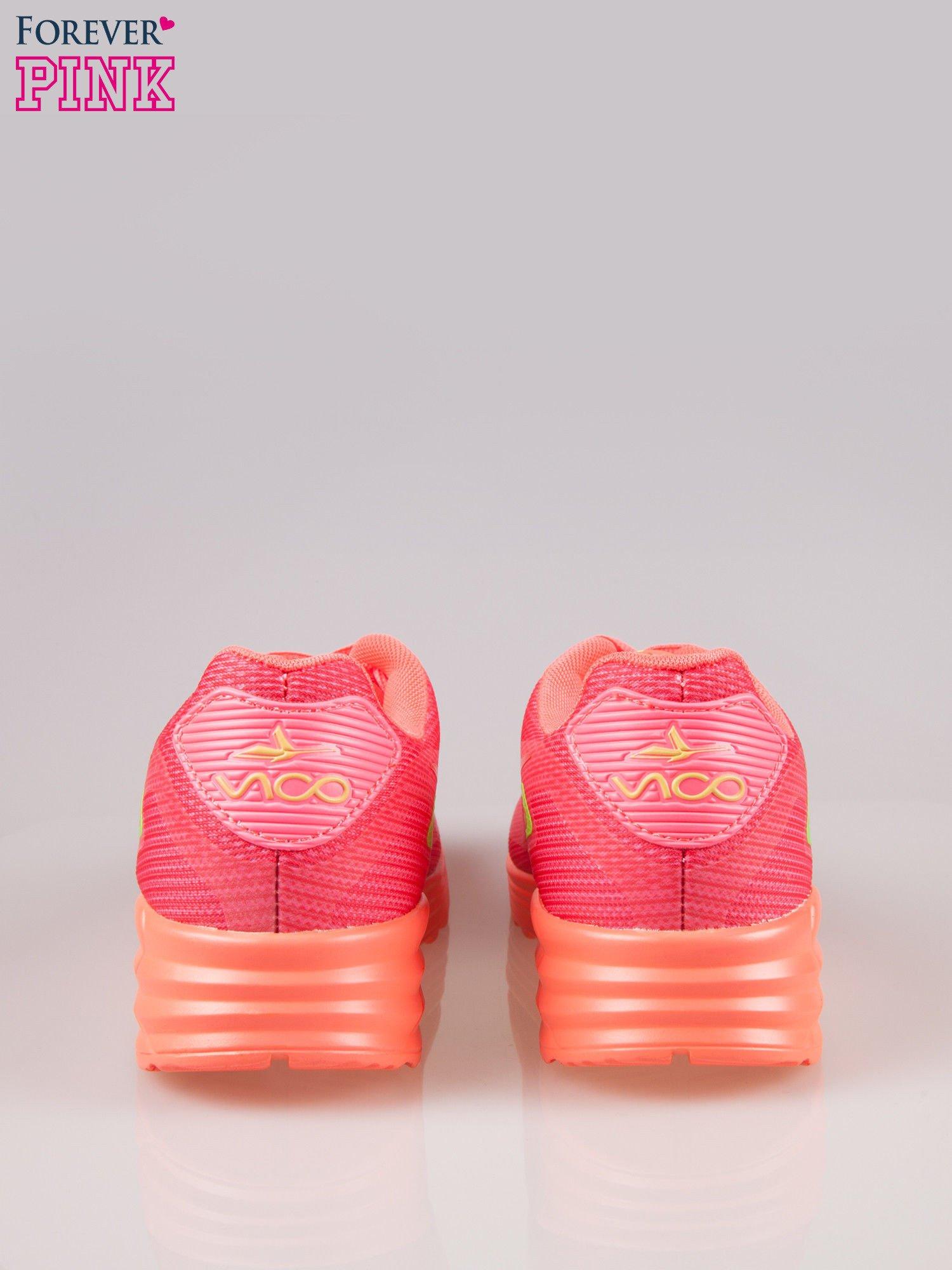 Koralowe miękkie buty sportowe z imitacją siateczki                                  zdj.                                  3