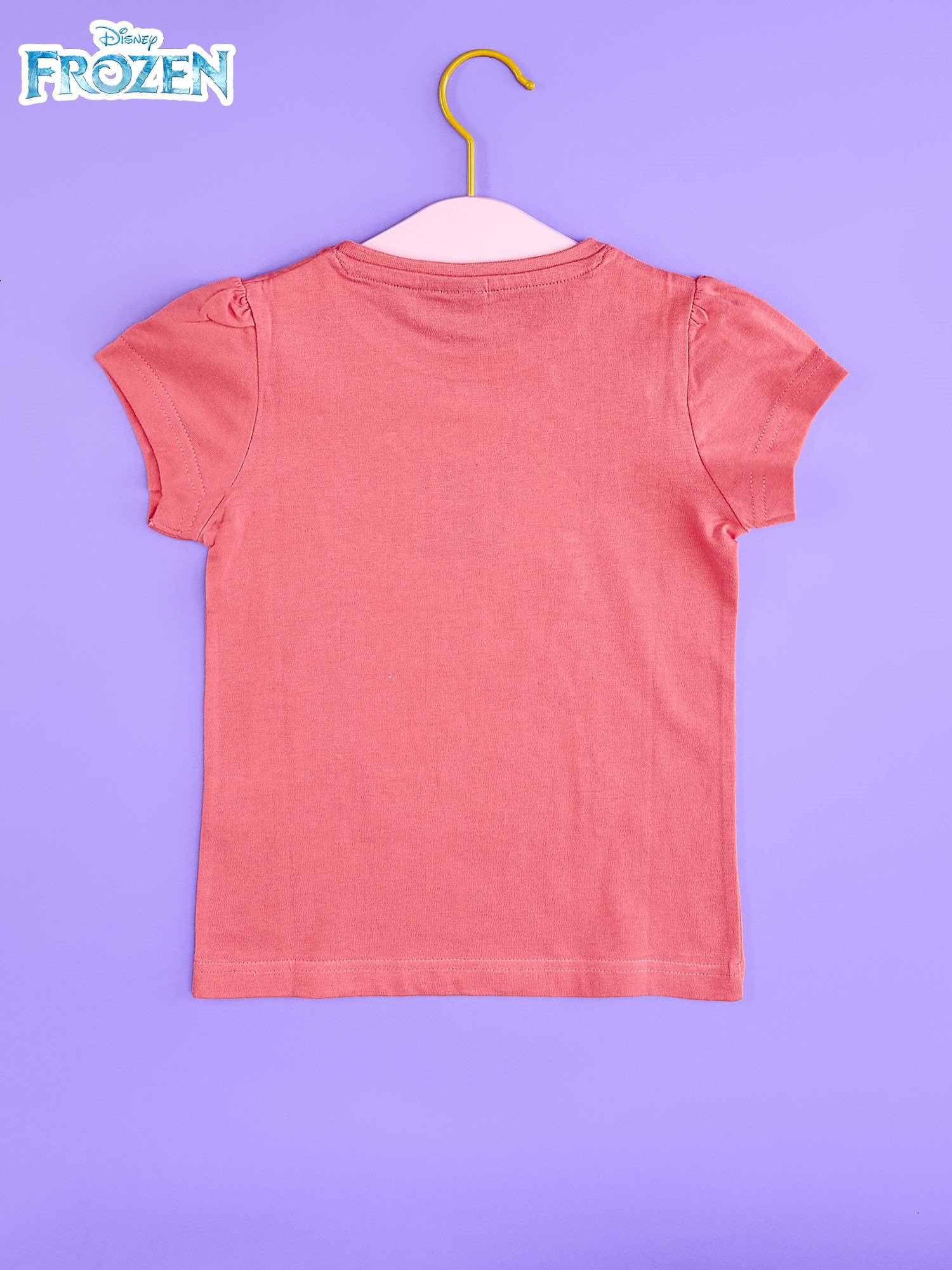 Koralowy t-shirt dla dziewczynki KRAINA LODU                                  zdj.                                  2