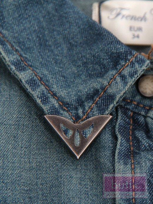 Koszula jeansowa z nakładkami                                   zdj.                                  2