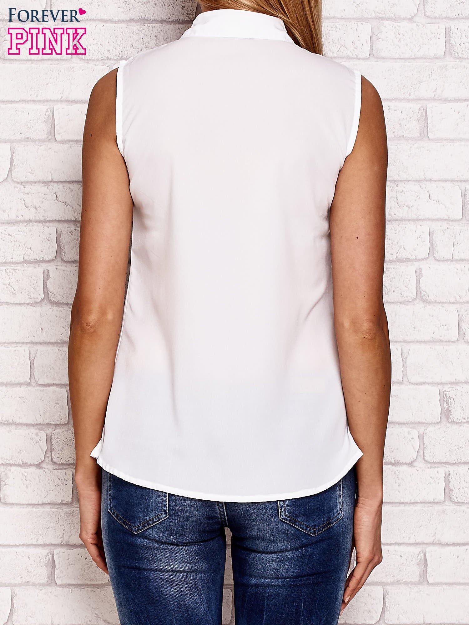 Koszula z nadrukiem fashion biała