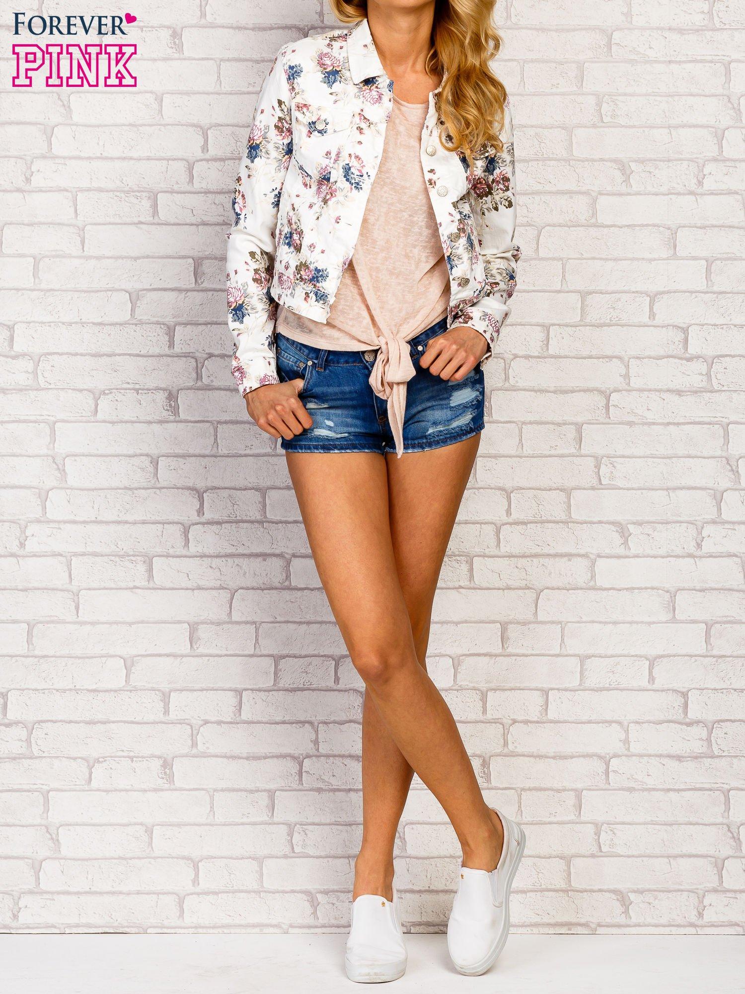 Kwiatowa kurtka jeansowa                                  zdj.                                  2