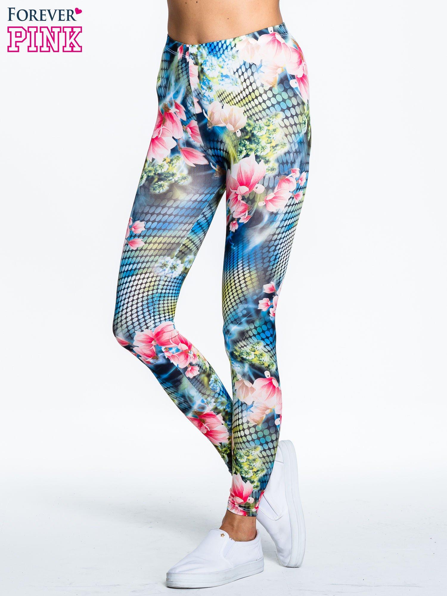 Kwiatowe legginsy z motywem floral print                                  zdj.                                  1