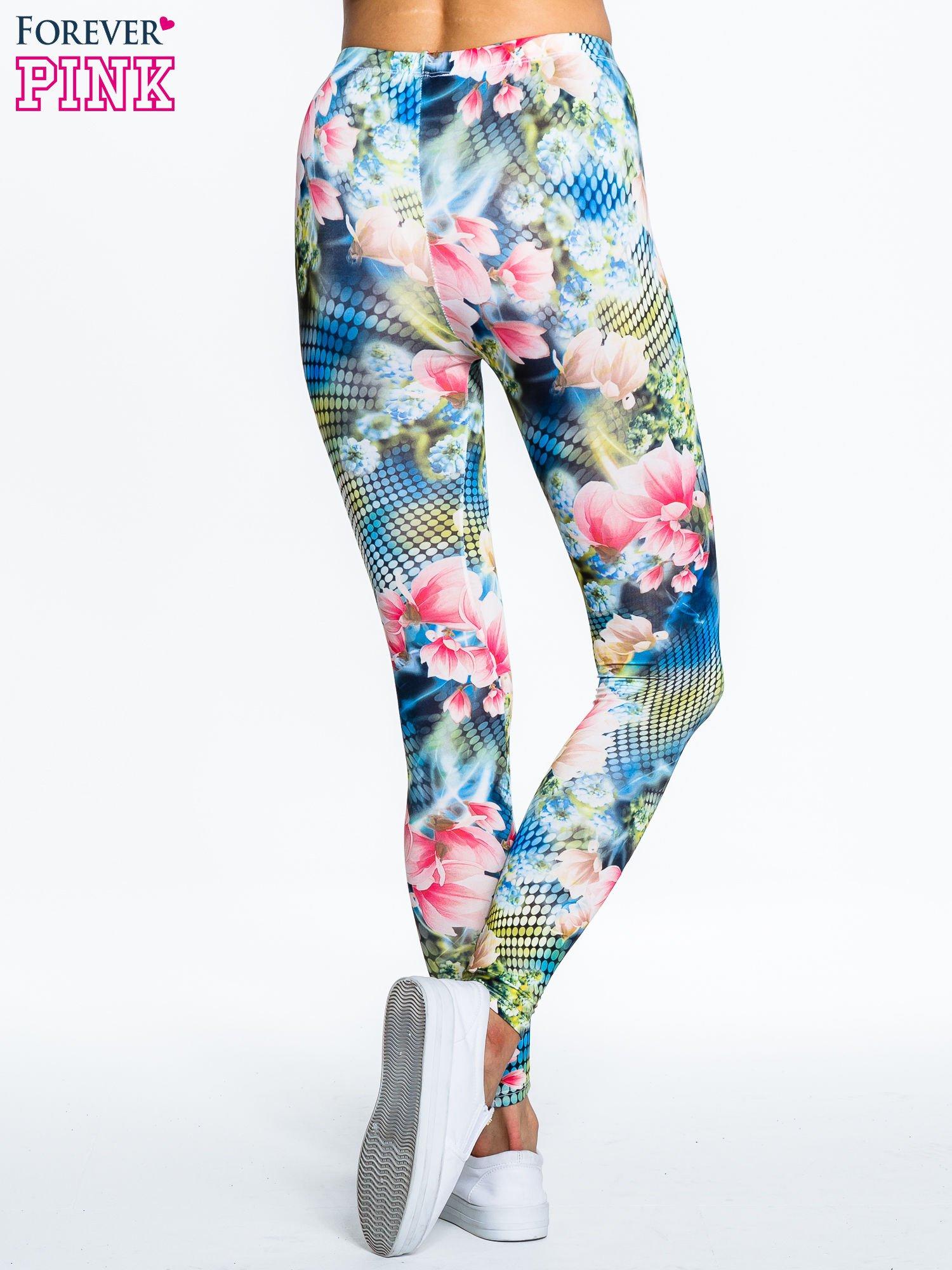 Kwiatowe legginsy z motywem floral print                                  zdj.                                  2
