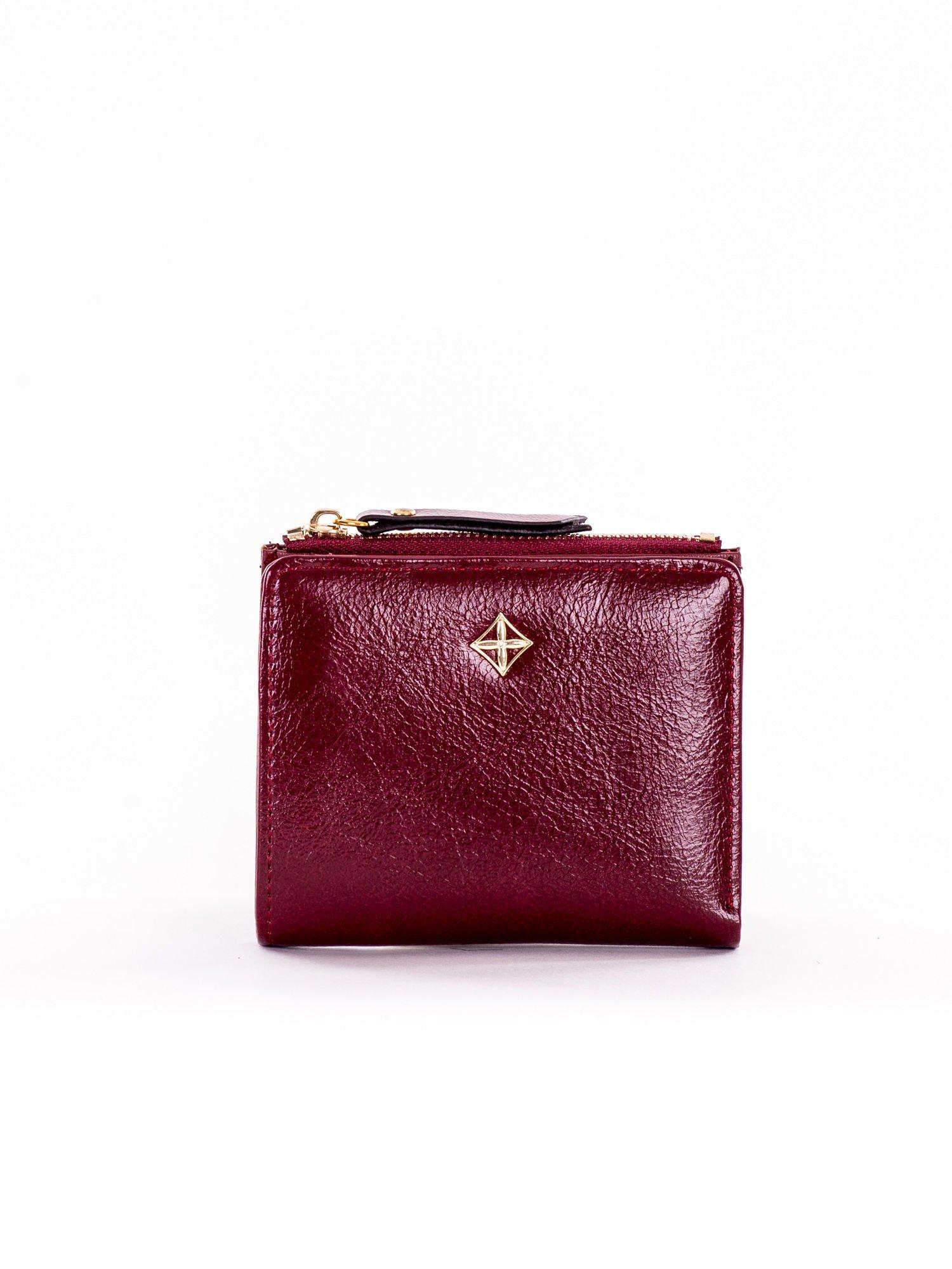 1757e46f8bb0c Mały bordowy płaski portfel damski - Akcesoria portfele - sklep ...