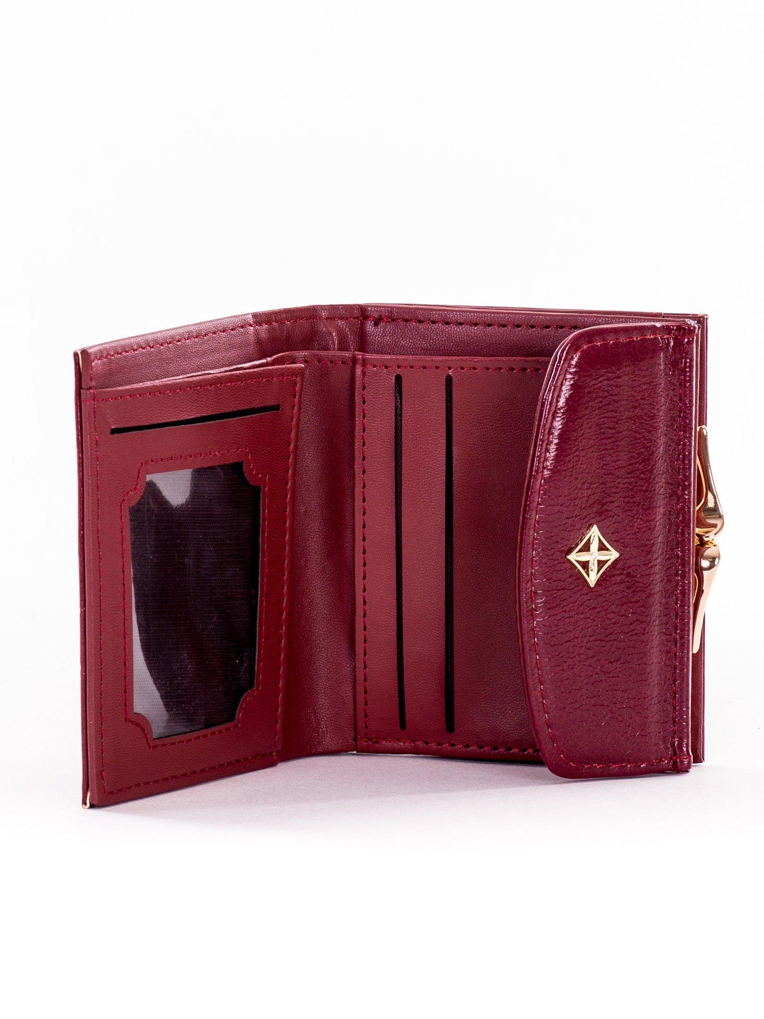 7d67070c2e7fb Mały elegancki bordowy portfel damski na bigiel - Akcesoria portfele -  sklep eButik.pl