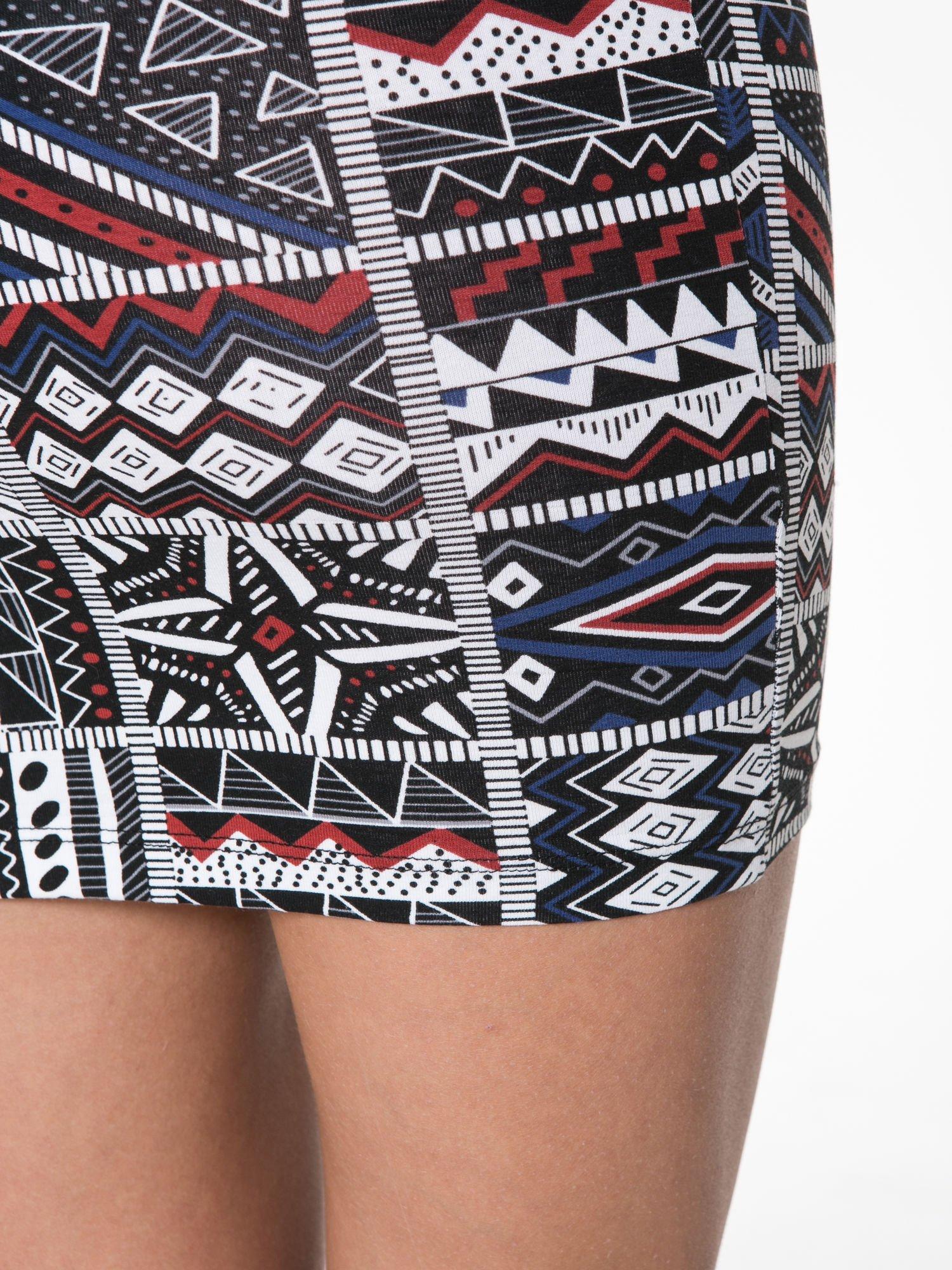 Mini spódnica tuba w azteckie wzory                                  zdj.                                  8