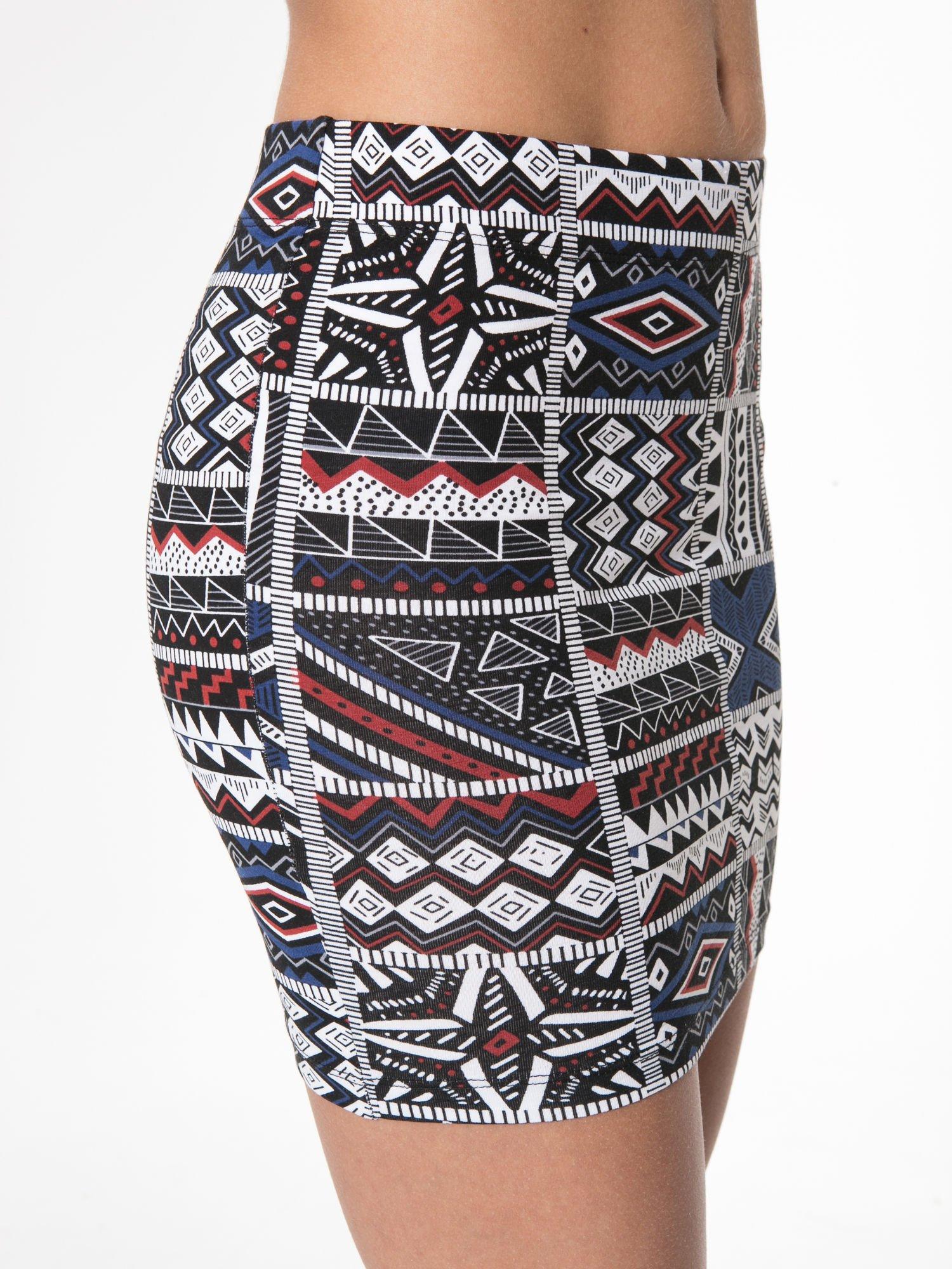 Mini spódnica tuba w azteckie wzory                                  zdj.                                  9