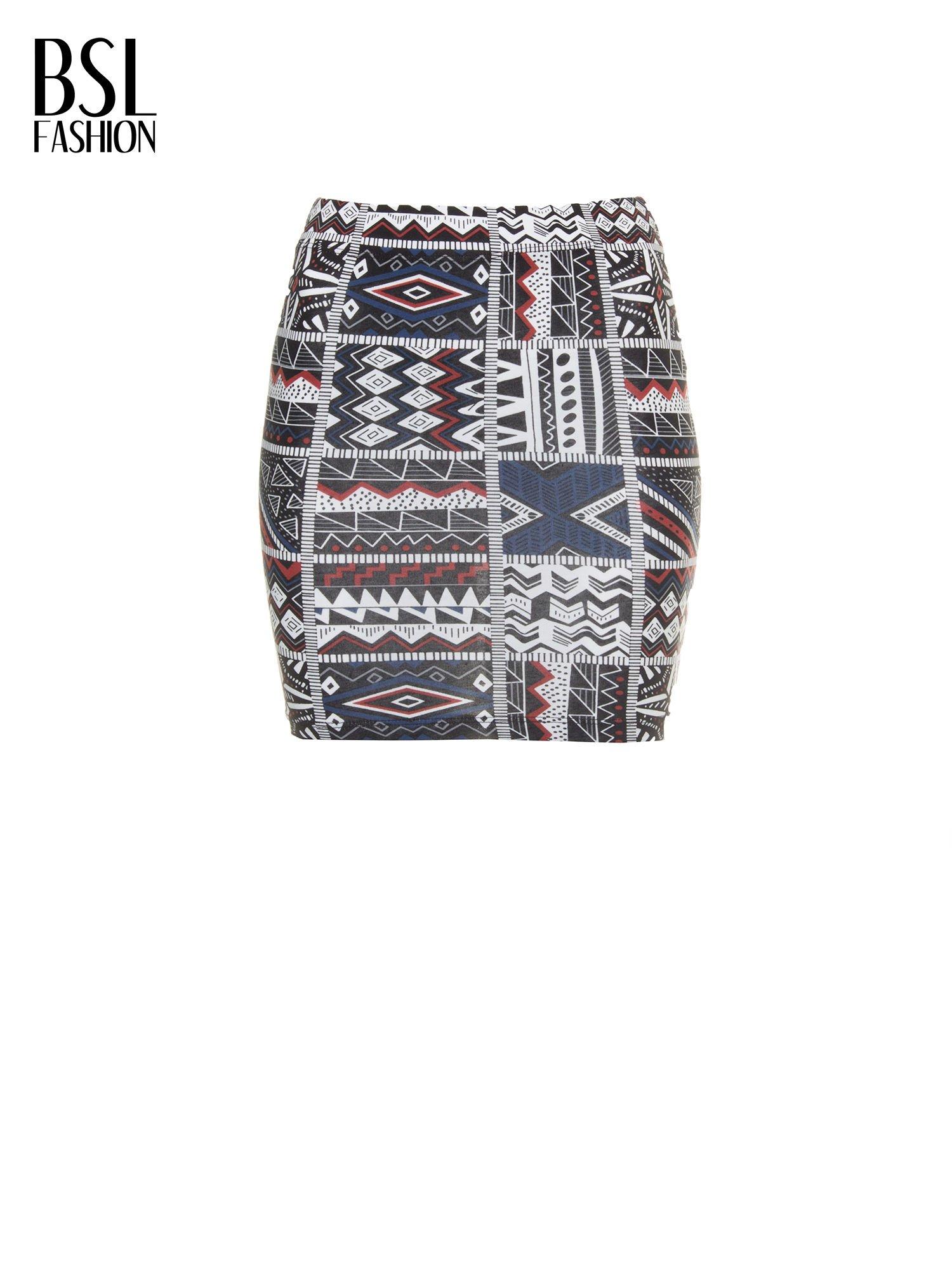Mini spódnica tuba w azteckie wzory                                  zdj.                                  2