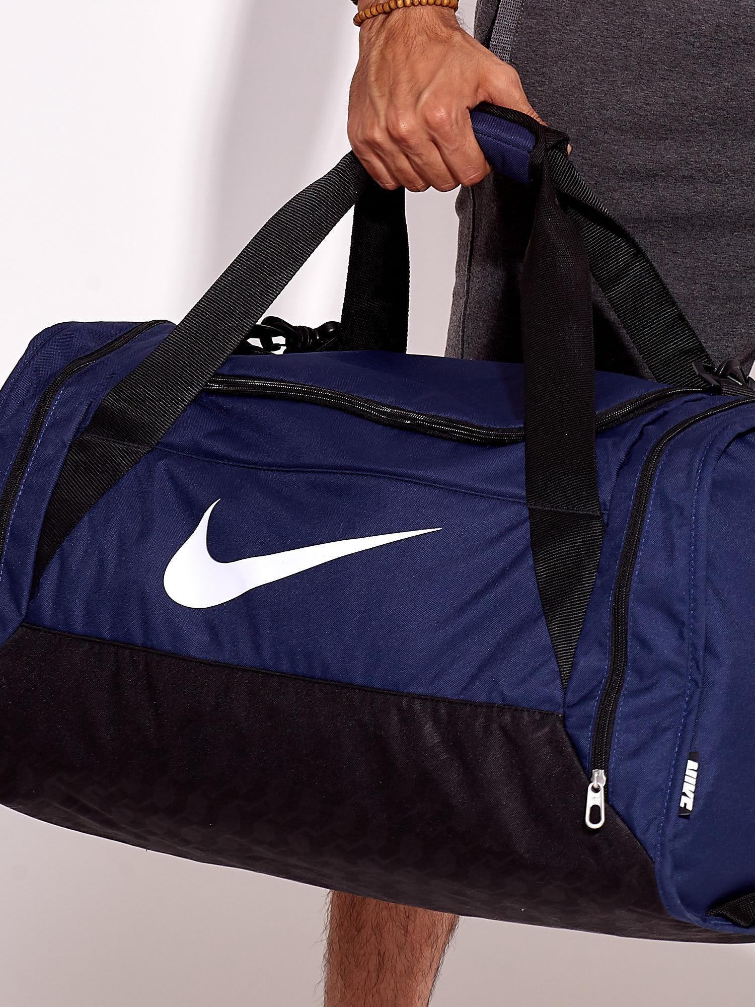 nowy autentyczny różne style duża obniżka NIKE Granatowa torba sportowa