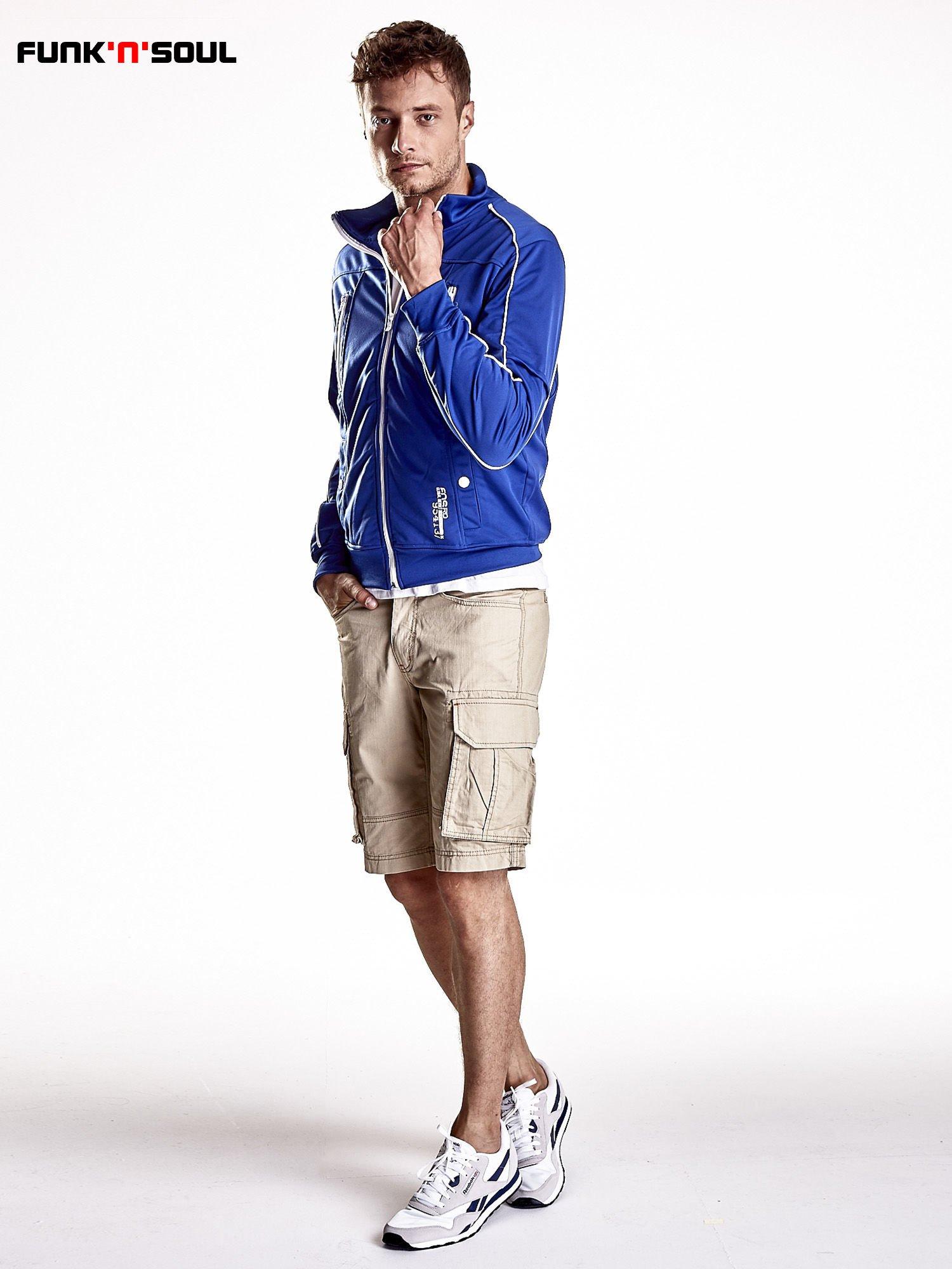 Niebieska bluza męska z kieszeniami na suwak Funk n Soul                                  zdj.                                  3