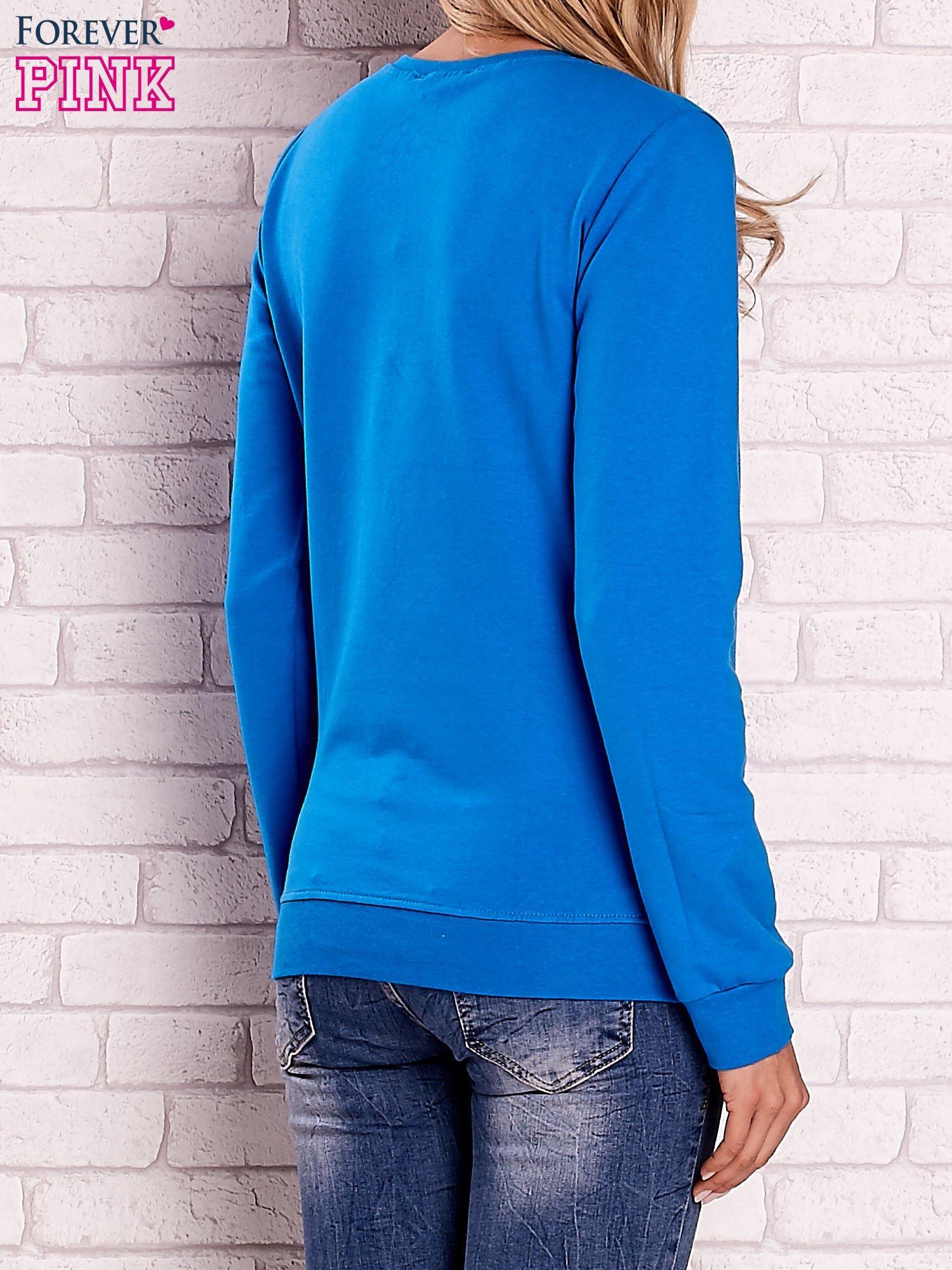 Niebieska bluza z motywem paryskim                                  zdj.                                  4