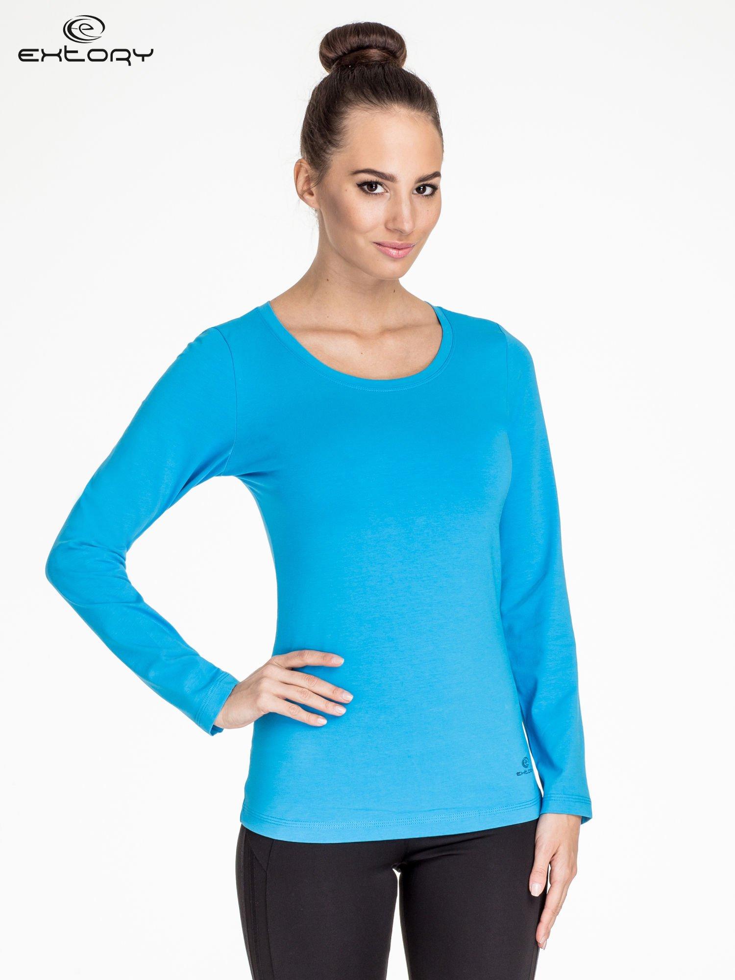 Niebieska bluzka sportowa basic PLUS SIZE                                  zdj.                                  1