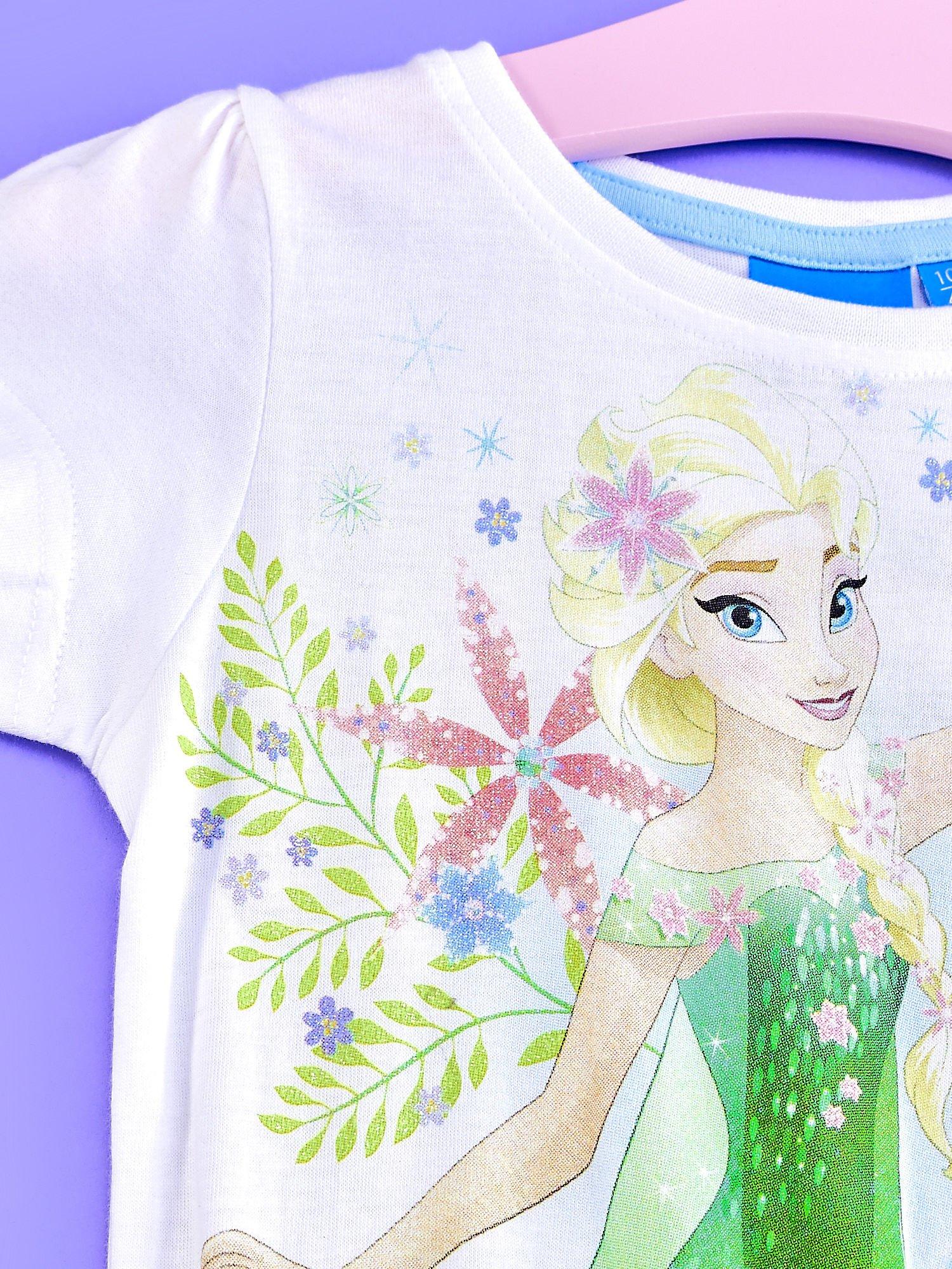 a8e35cdff2 2 · Niebieska sukienka dla dziewczynki z brokatowym paskiem FROZEN ...