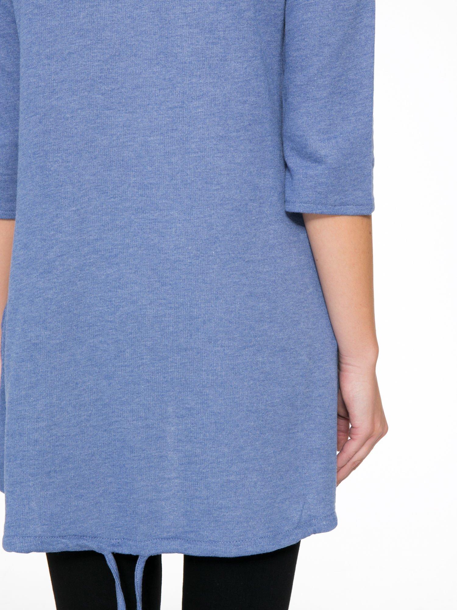 Niebieska tunika o kroju dzwonka wiązana z tyłu                                  zdj.                                  10