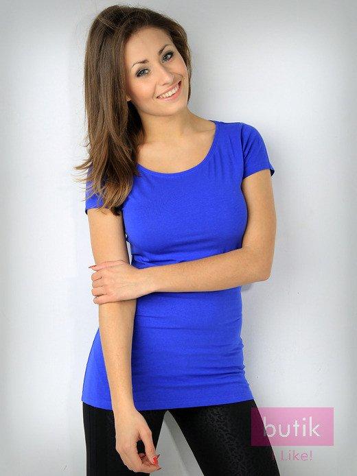 Niebieski basicowy t-shirt For Fitness                                  zdj.                                  1