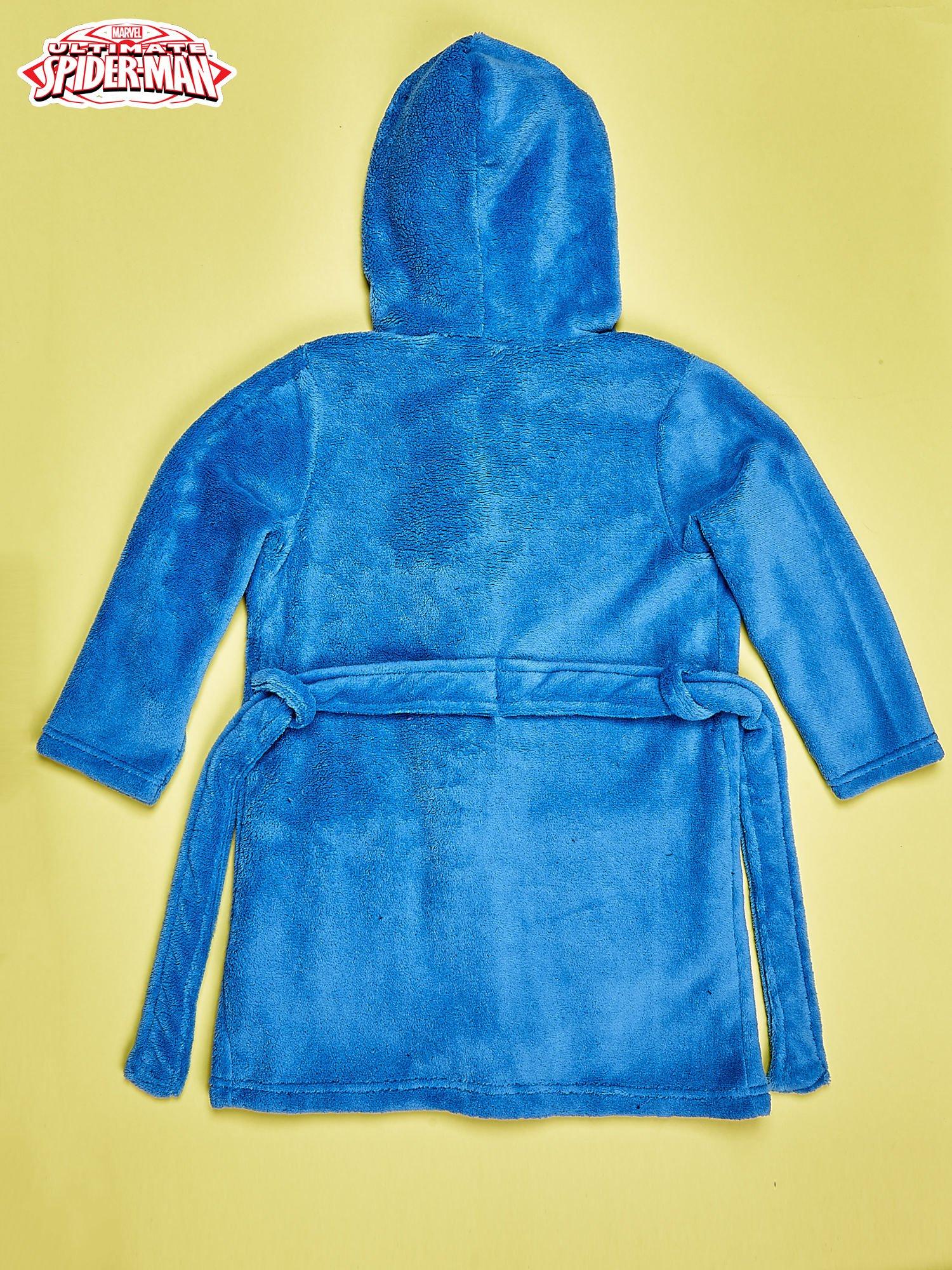 Niebieski chłopięcy szlafrok SPIDERMAN                                  zdj.                                  2