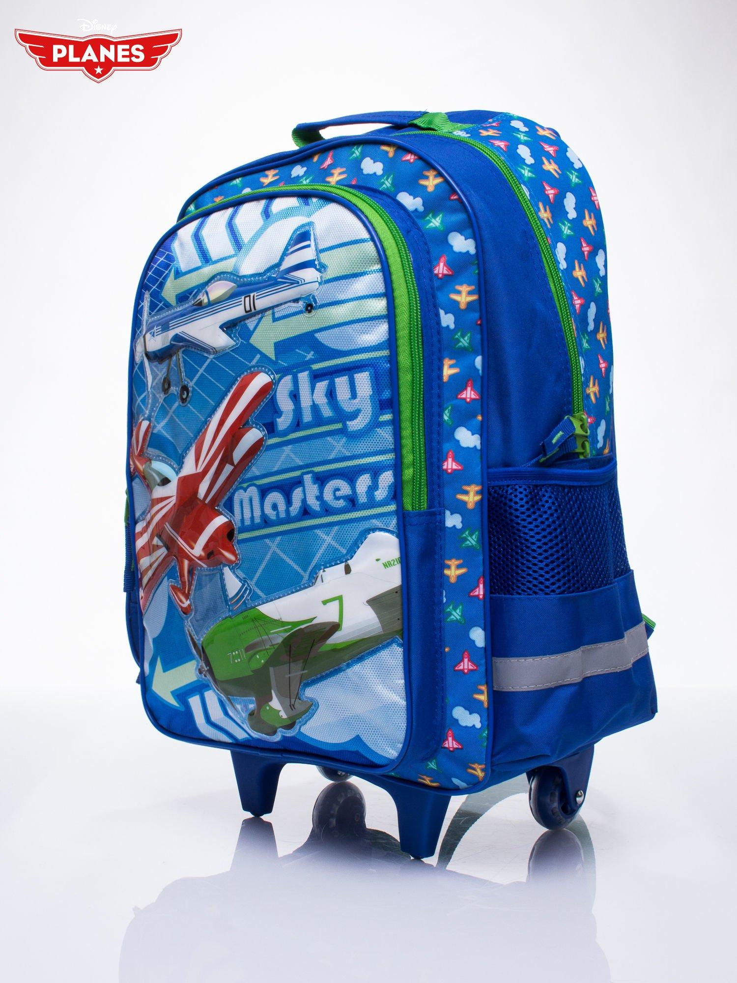 Niebieski plecak szkolny na kółkach walizka DISNEY Samoloty                                  zdj.                                  2