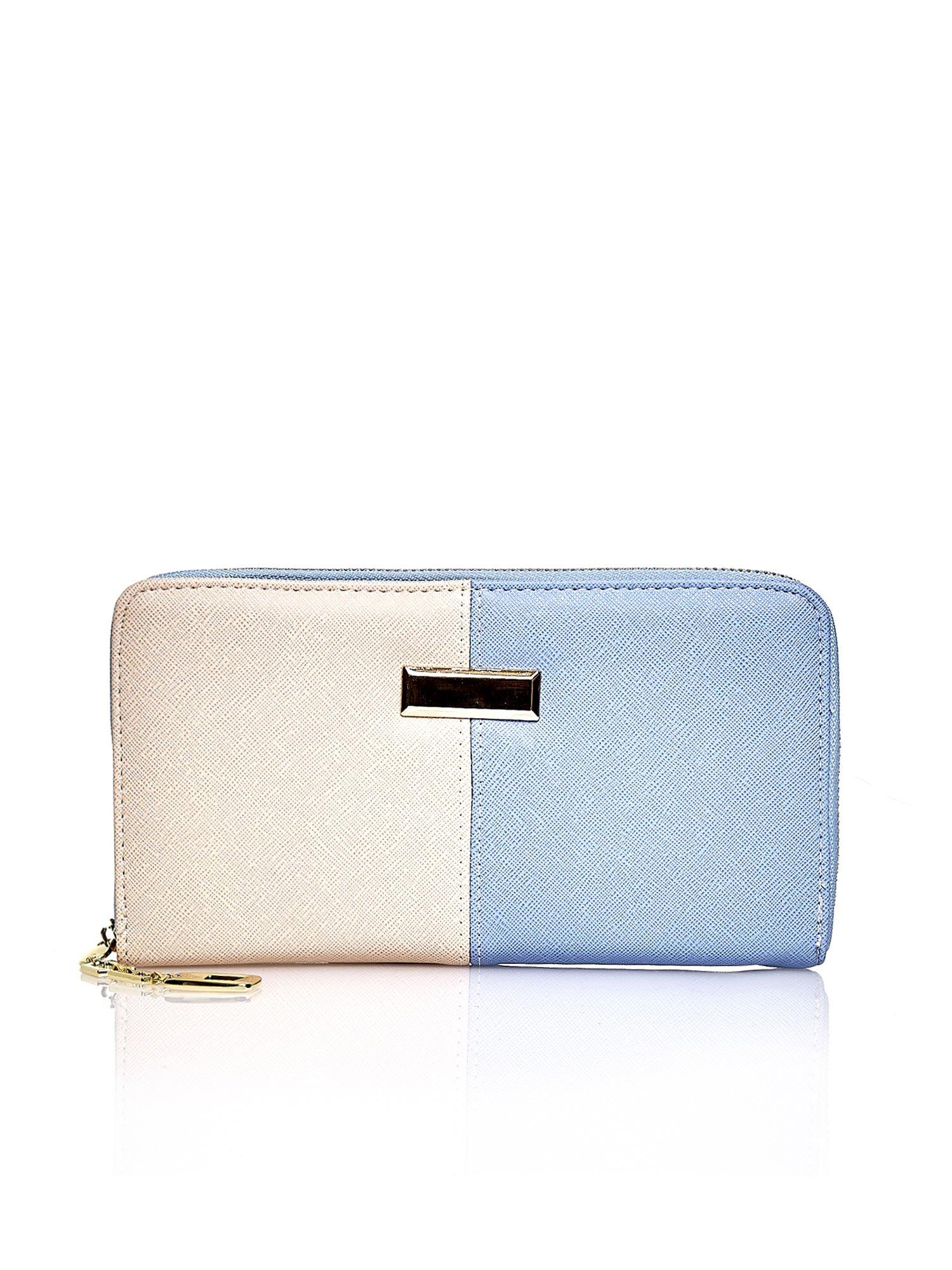 Niebieski portfel two tone z uchwytem                                  zdj.                                  1