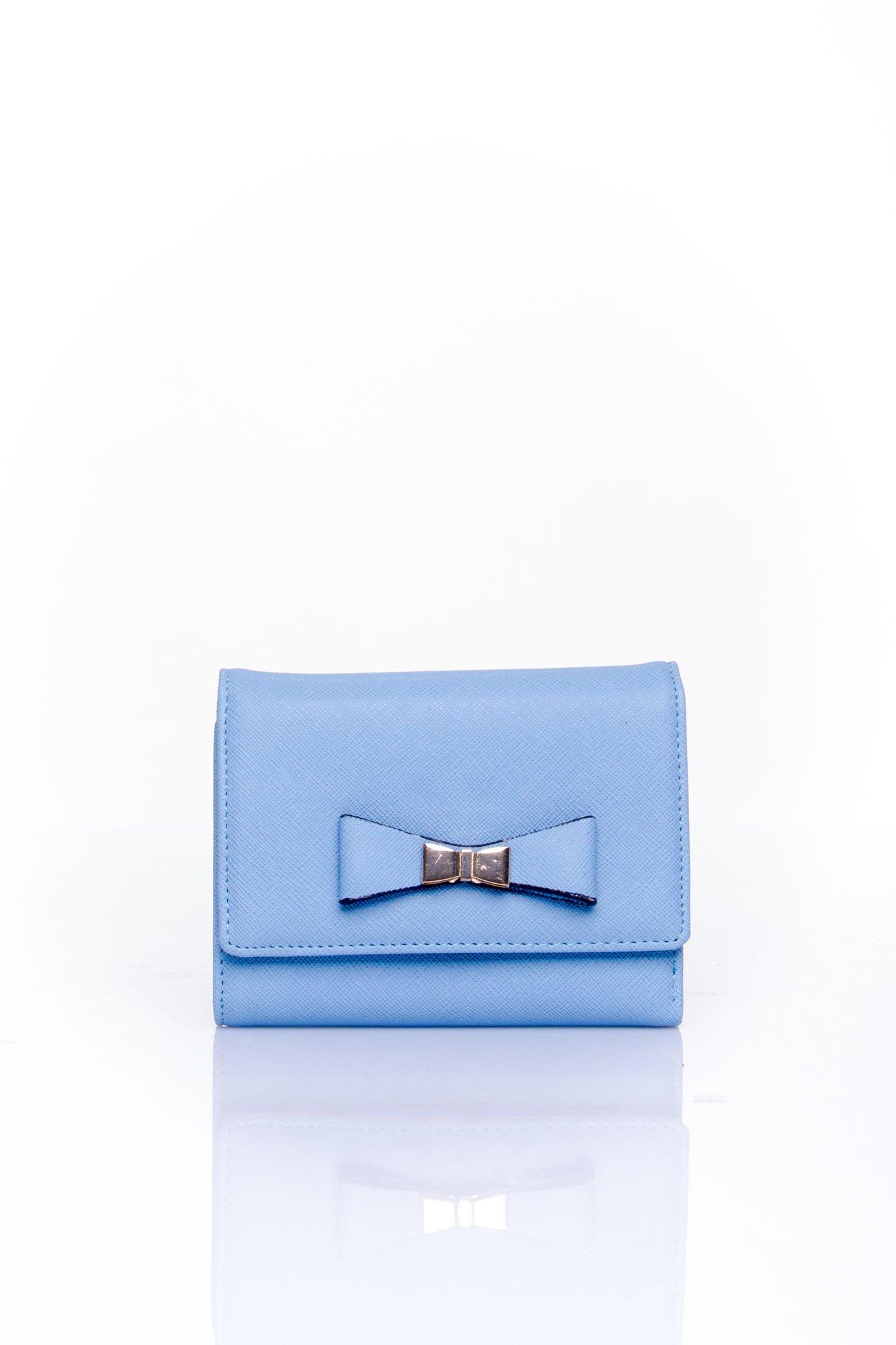 Niebieski portfel z kokardką                                  zdj.                                  1