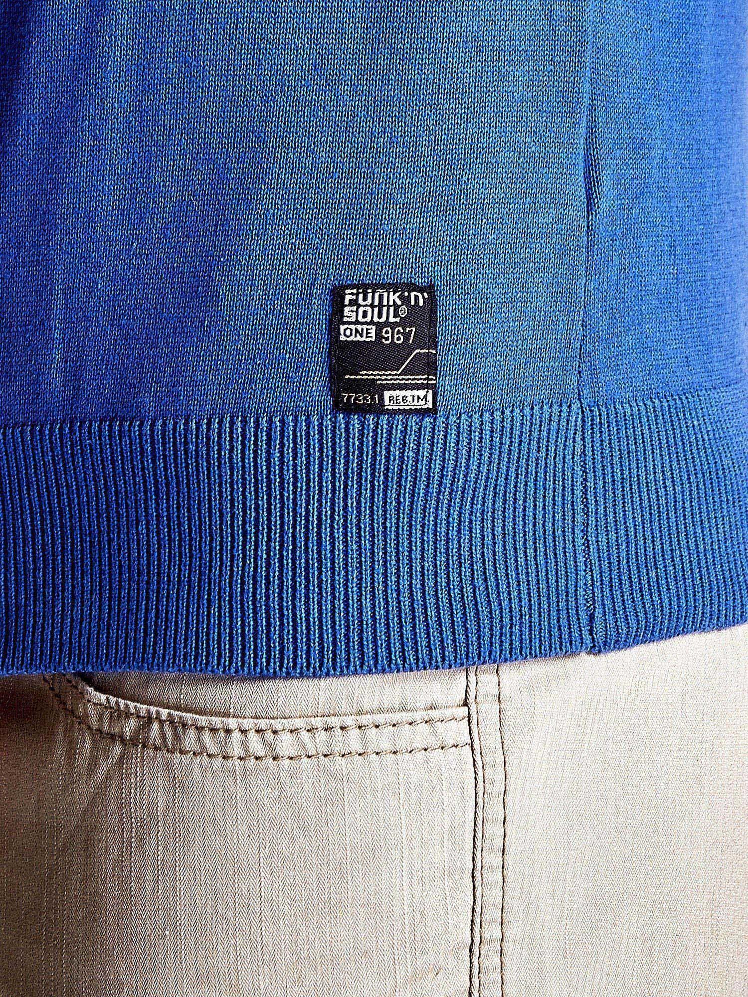 Niebieski sweter męski na guziki Funk n Soul                                   zdj.                                  8