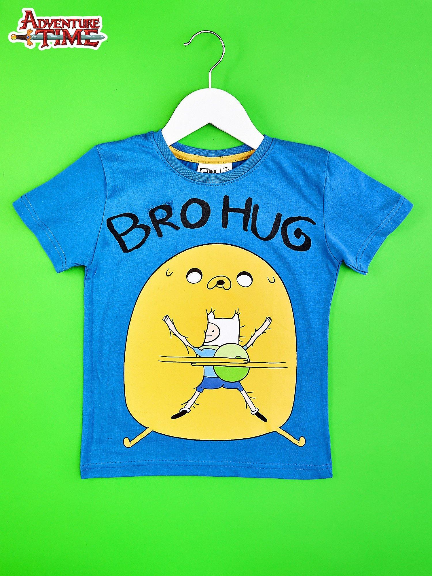 Niebieski t-shirt chłopięcy ADVENTURE TIME                                   zdj.                                  1