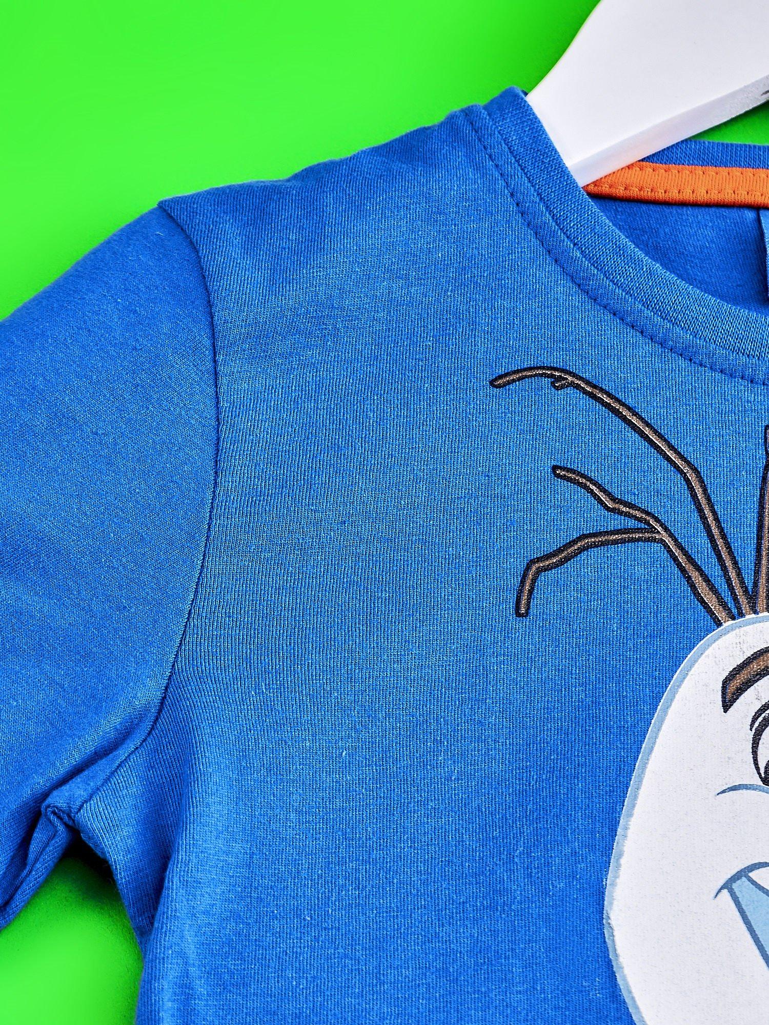 Niebieski t-shirt chłopięcy KRAINA LODU                                  zdj.                                  3