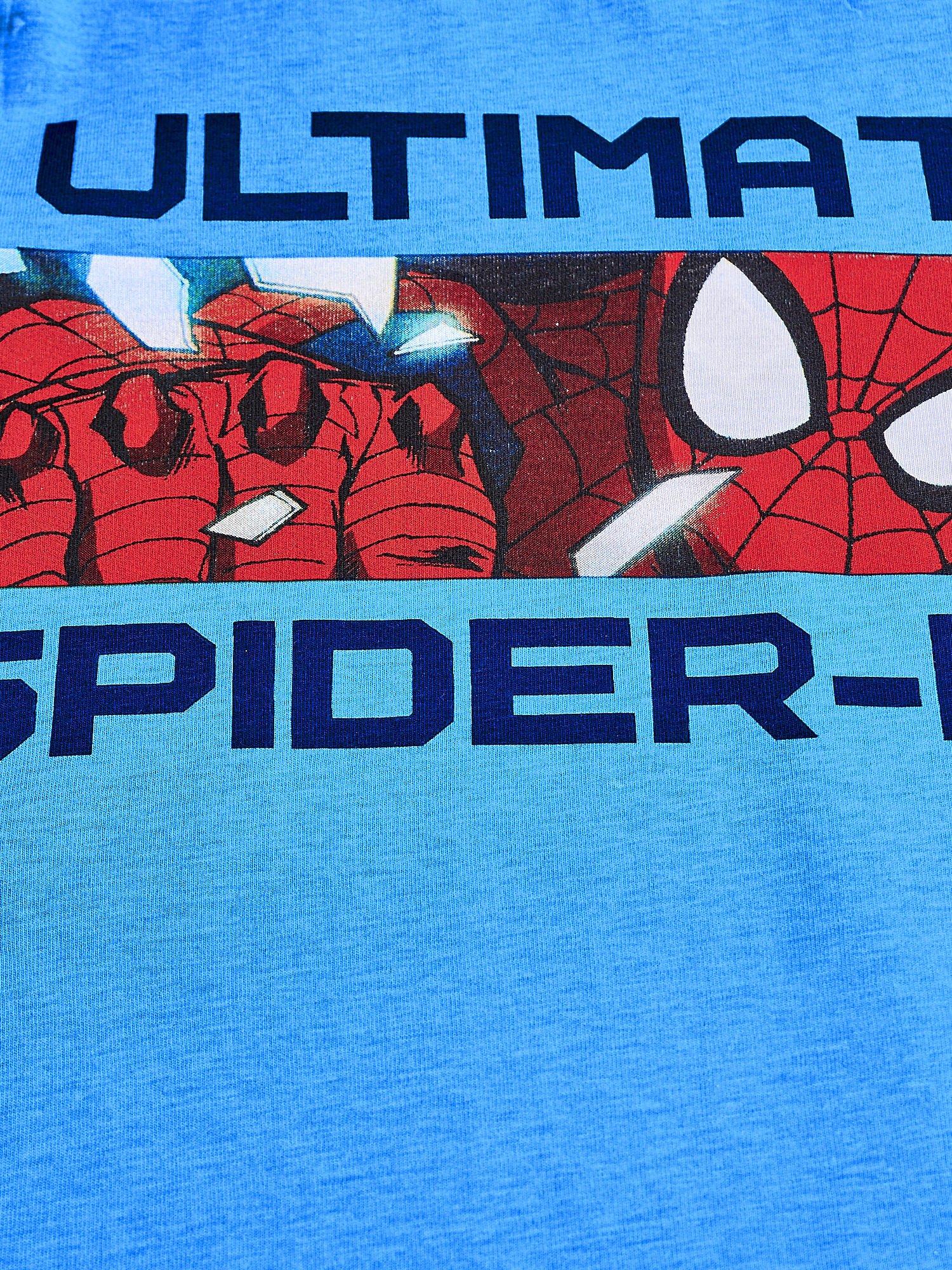 Niebieski t-shirt chłopięcy SPIDERMAN                                  zdj.                                  4