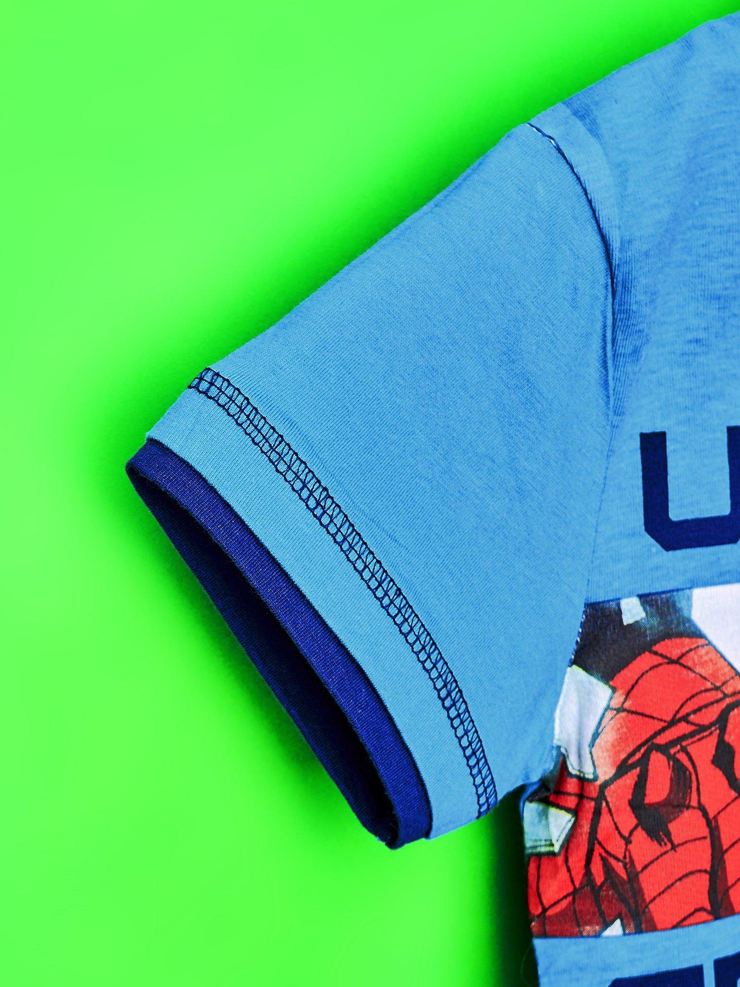 Niebieski t-shirt chłopięcy SPIDERMAN                                  zdj.                                  6
