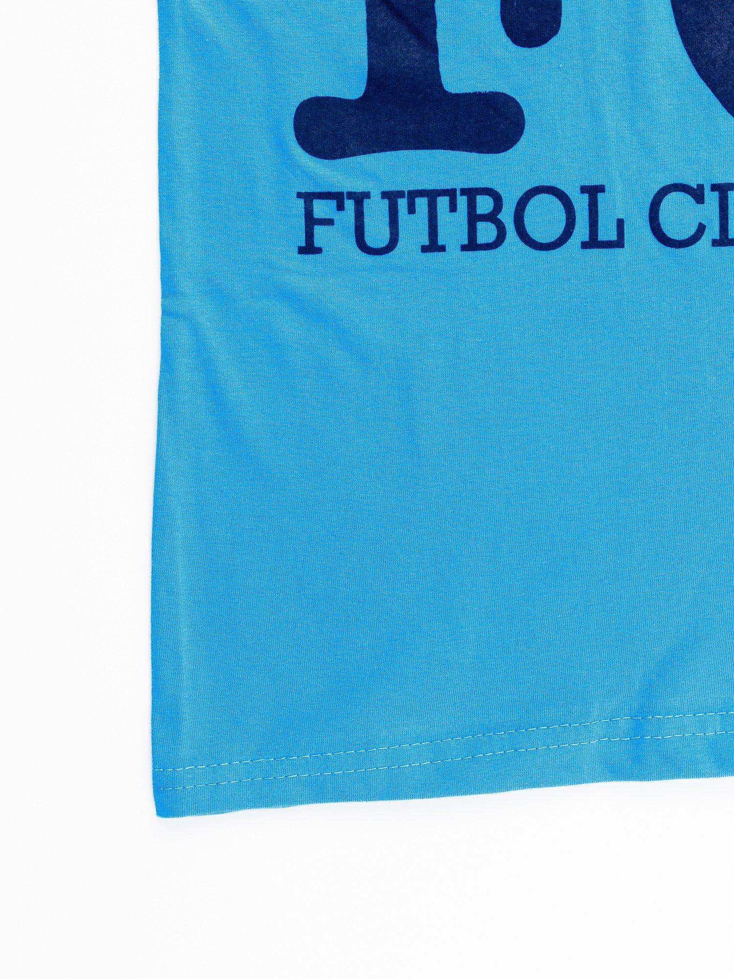 Niebieski t-shirt męski FC BARCELONA                                  zdj.                                  12