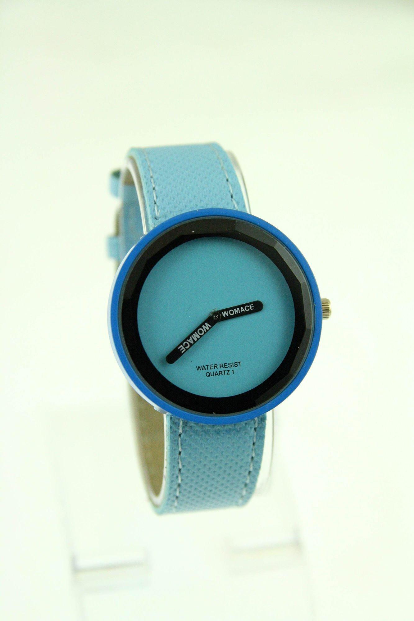 Niebieski zegarek damski na pasku                                  zdj.                                  1