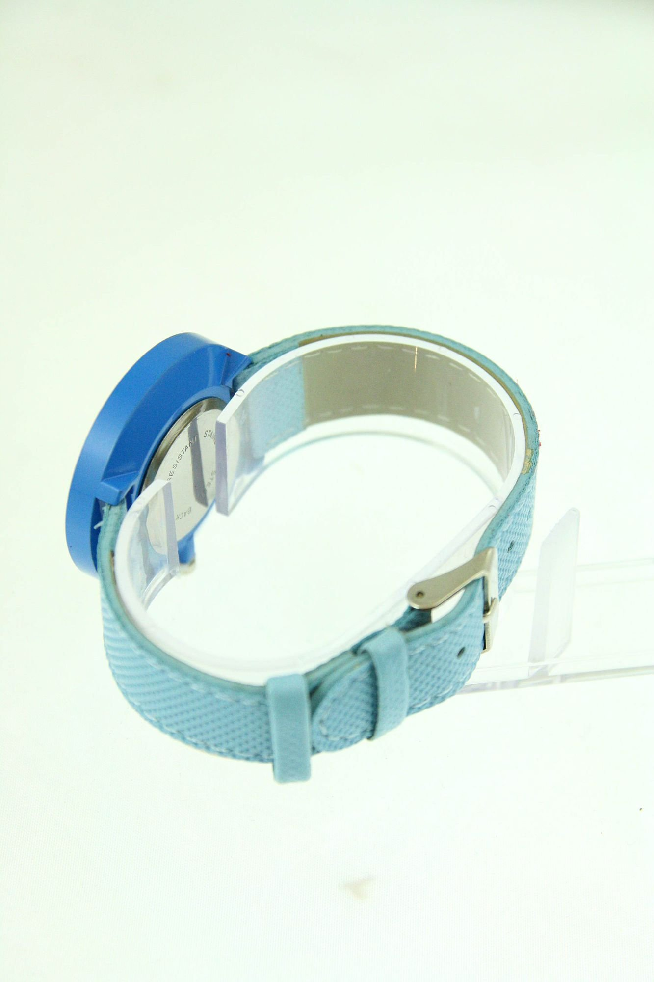 Niebieski zegarek damski na pasku                                  zdj.                                  3